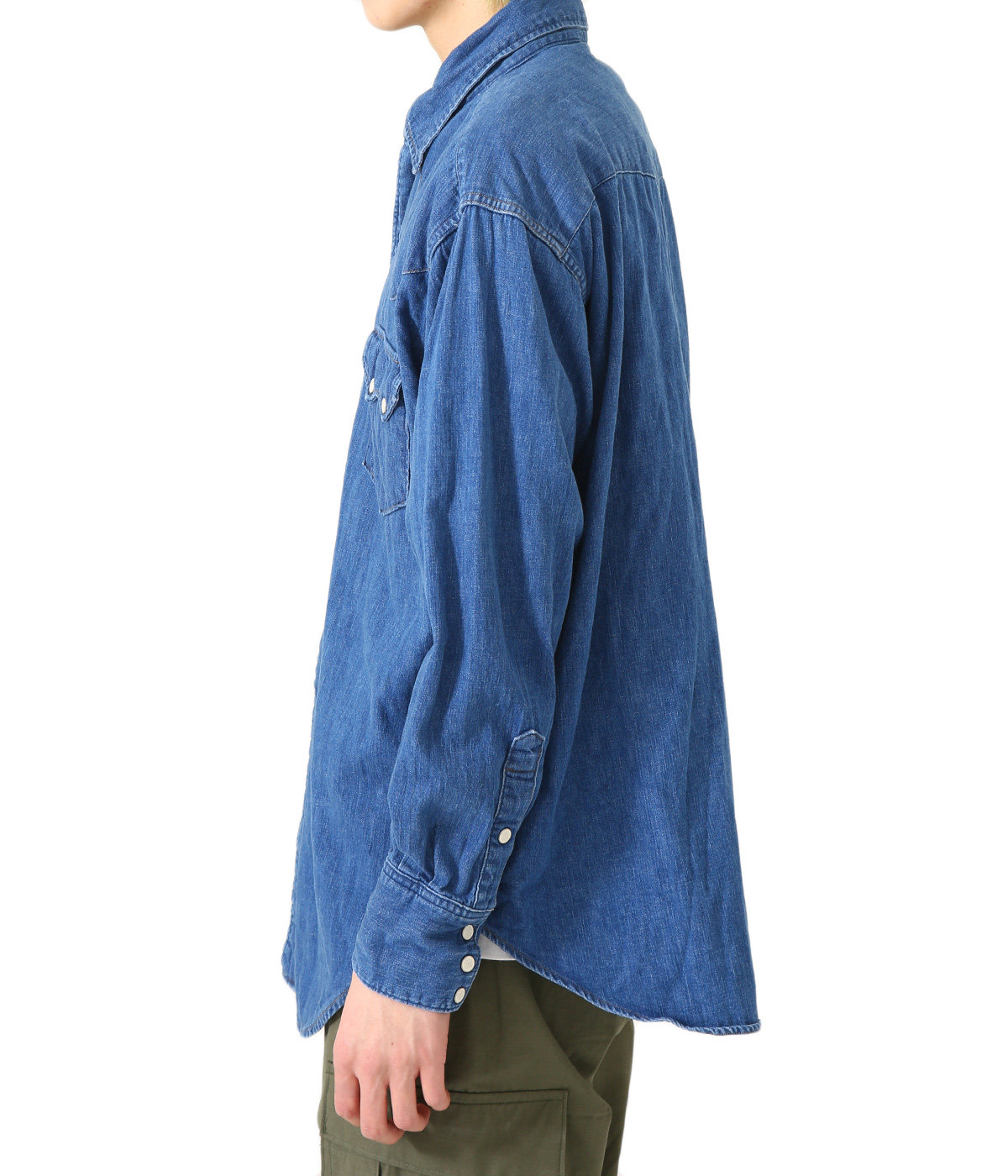 VINTAGE FIT WESTERN SHIRT -DENIM USED-