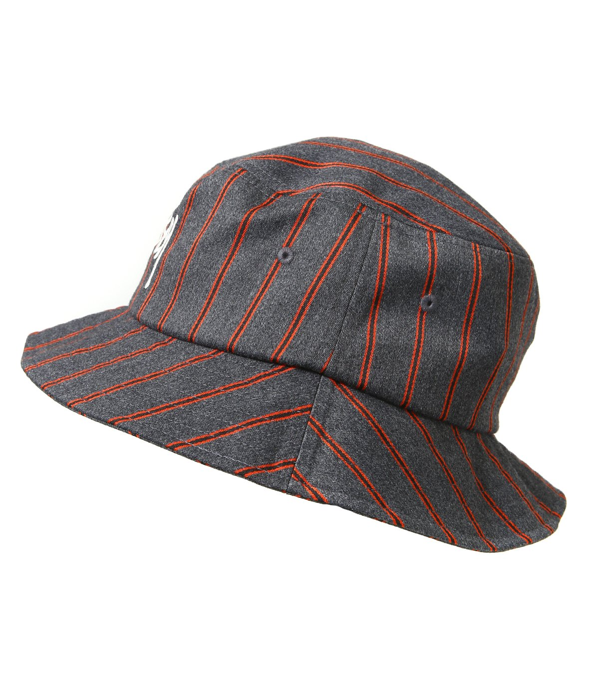 Big Logo Striped Bucket Hat
