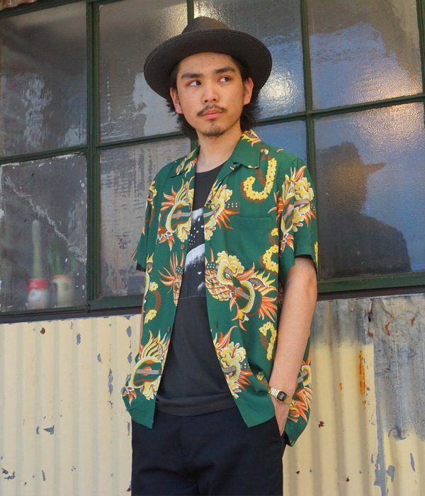 """JAMAICA FLOWER"" S/S HAWAIIAN SHIRT"