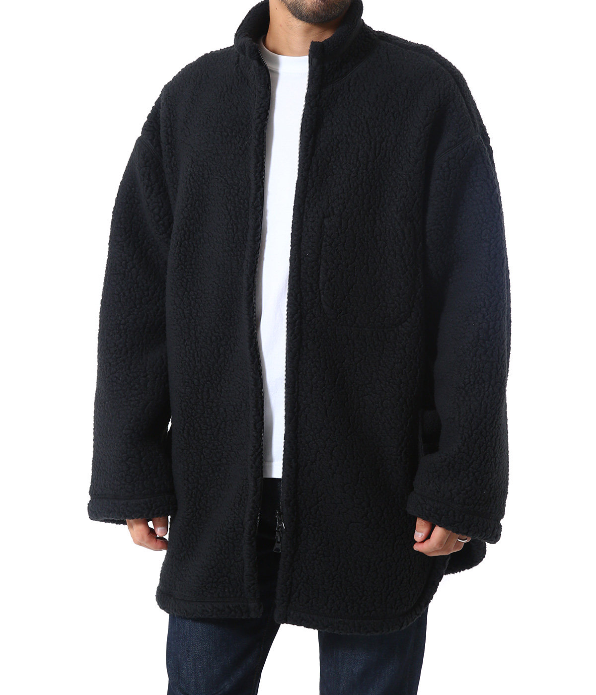 FLEECE ZIP UP SHIRT JACKET