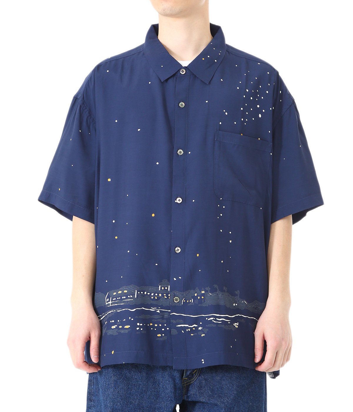 HONOLULU MOON NIGHT  ALOHA SHIRT