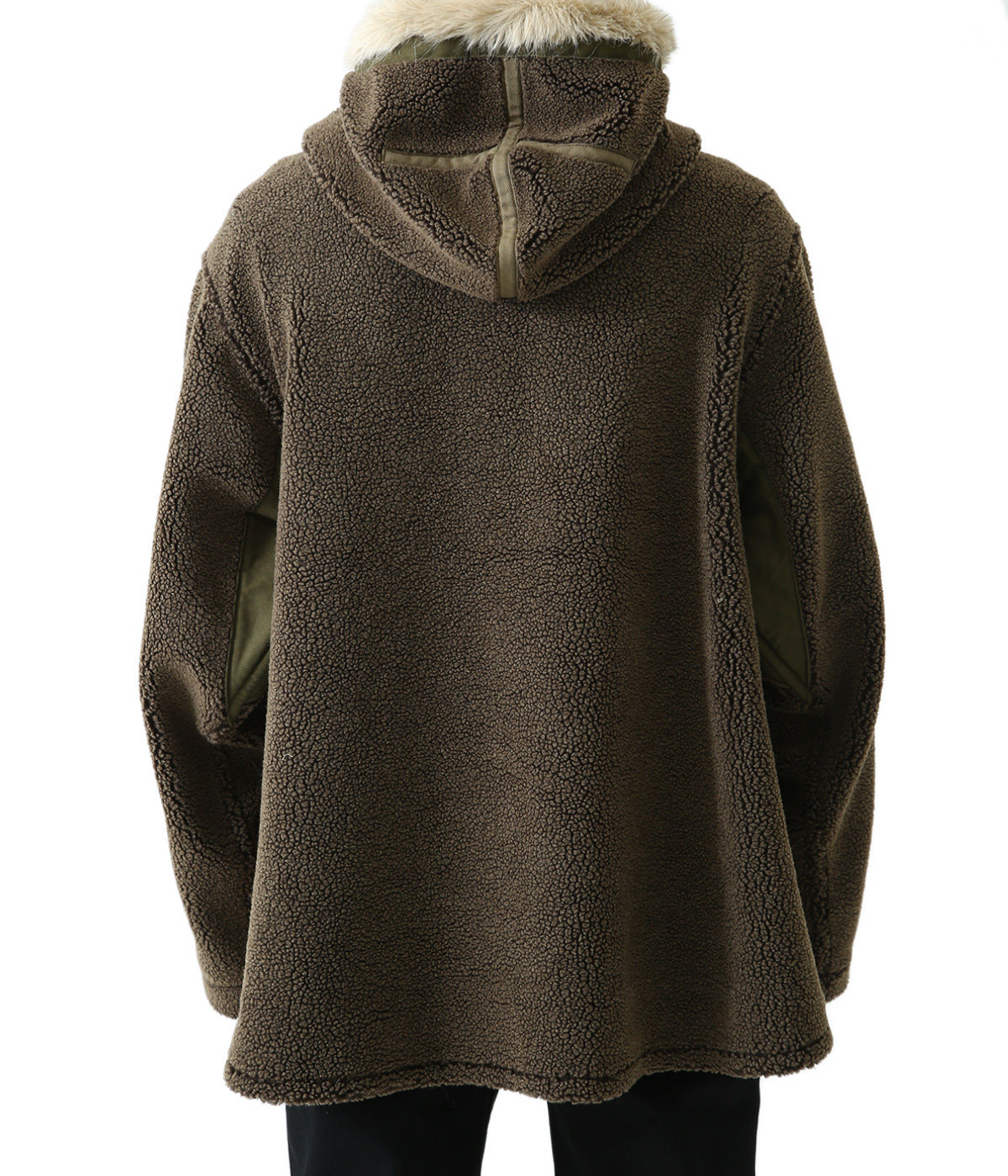 FUR HOODED FLEECE JACKET (UNISEX)