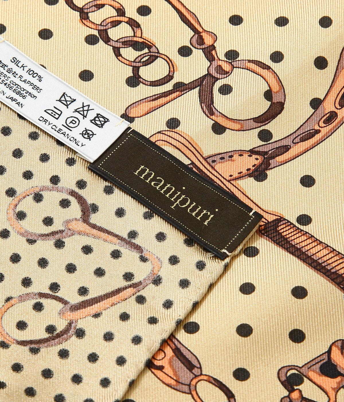 <Silk scarf(65cm×65cm)>-dot_bit-