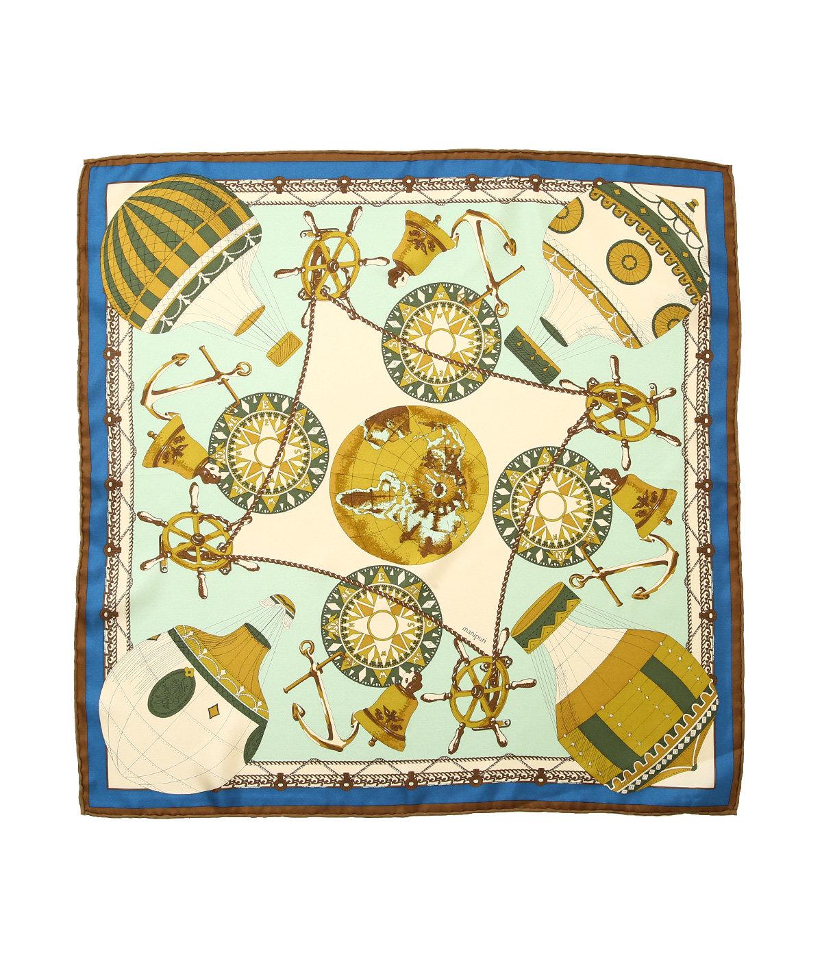 <Silk scarf(65cm×65cm)>-globo-