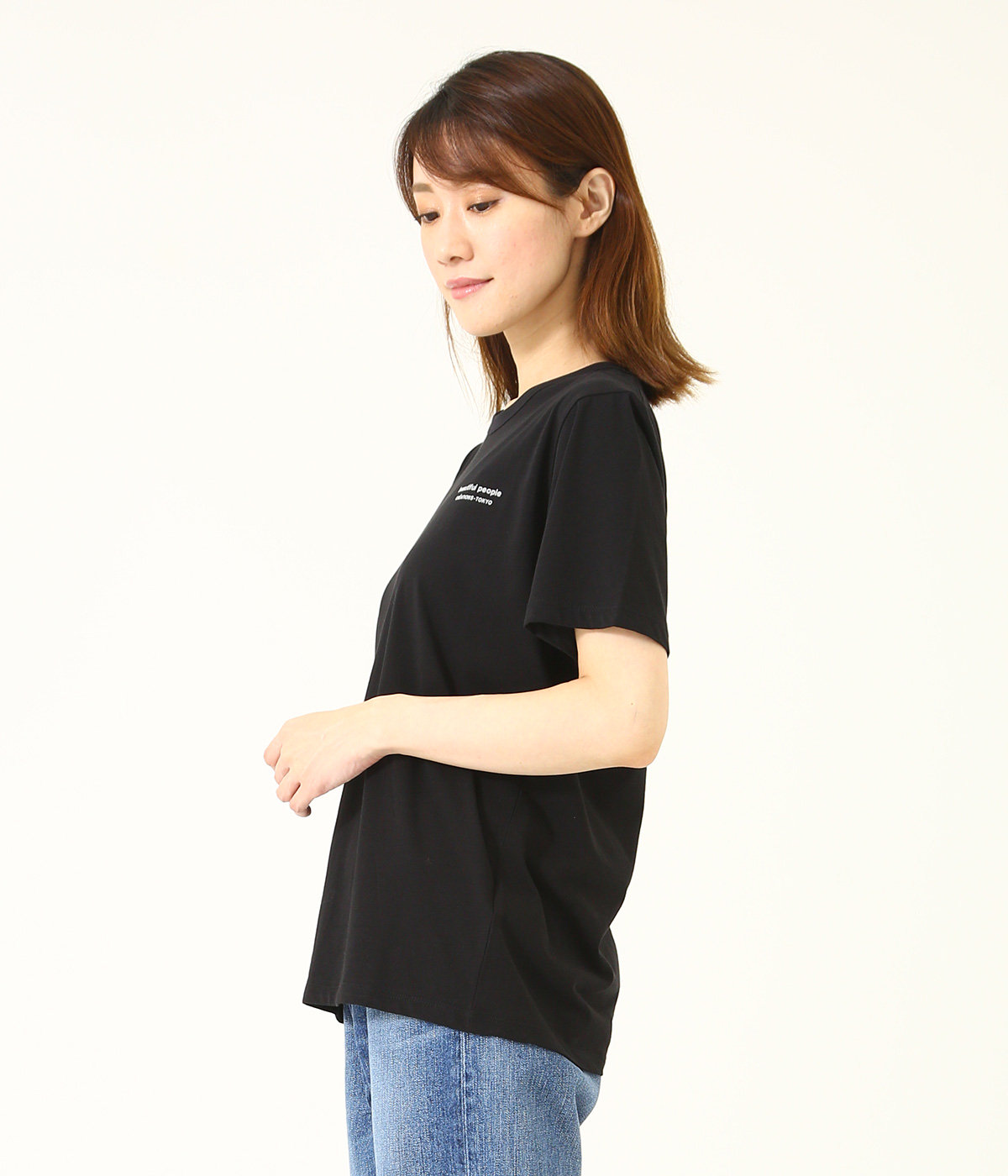 【レディース】cotton jersey bp logo T-shirt