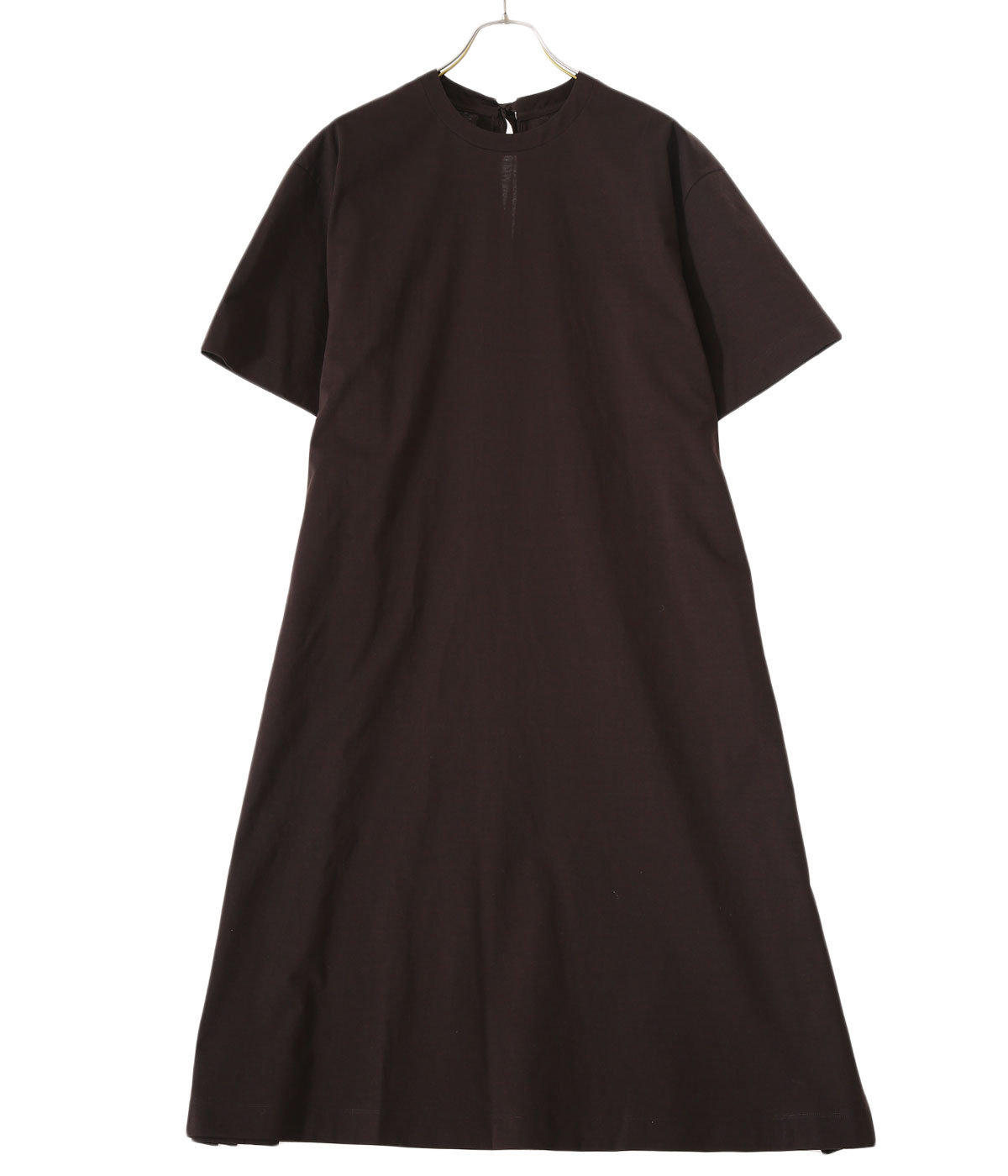 【予約】paper jersey back ribbon T-dress