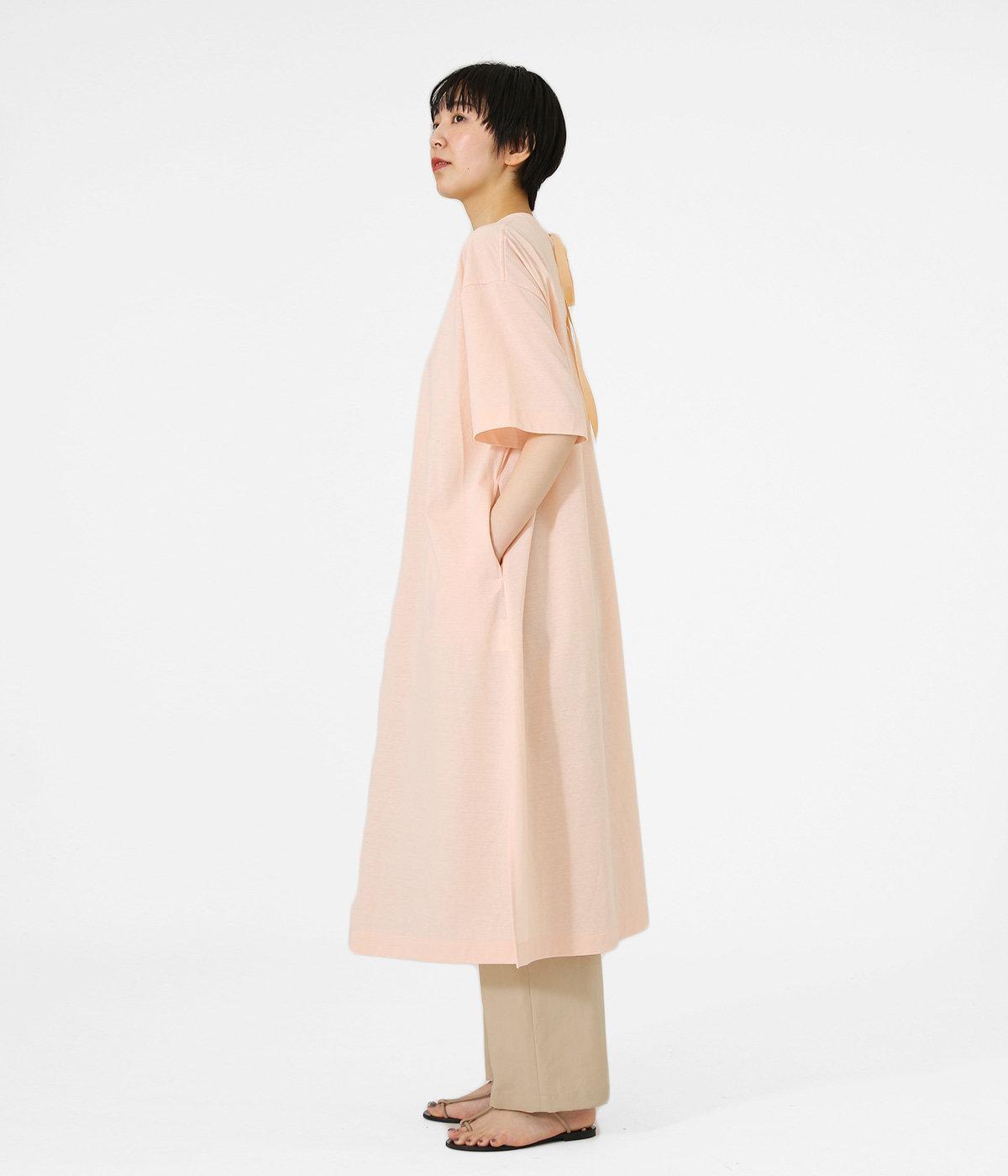 【レディース】paper jersey back ribbon T-dress