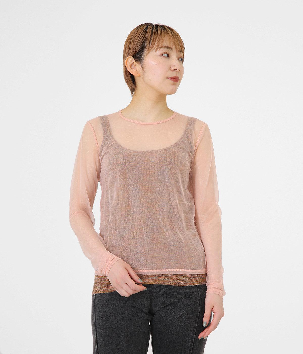 【予約】sheer nylon rib long T-shirt