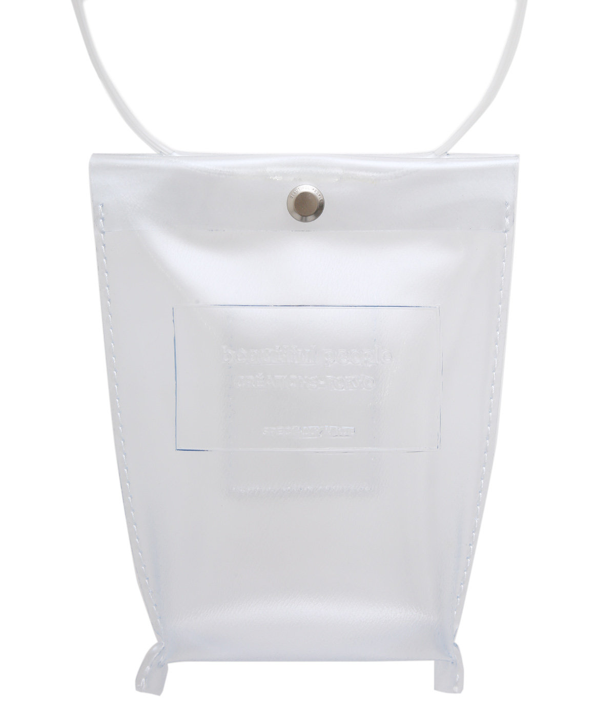 【予約】clear emboss name document bag