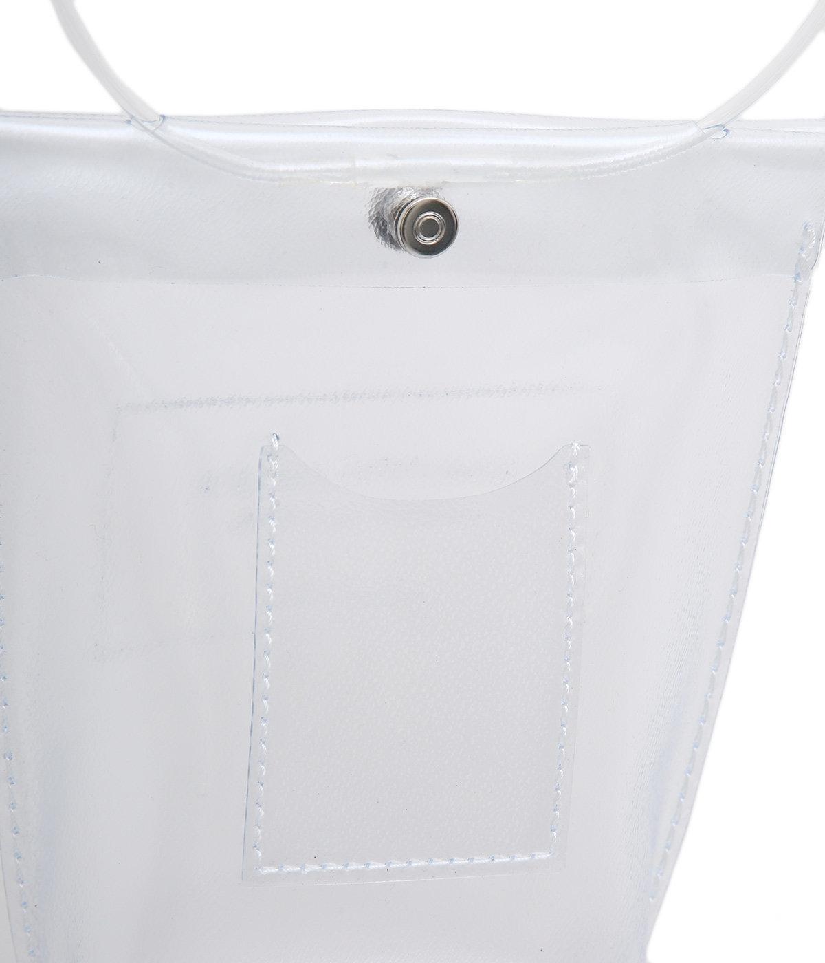 【レディース】clear emboss name document bag