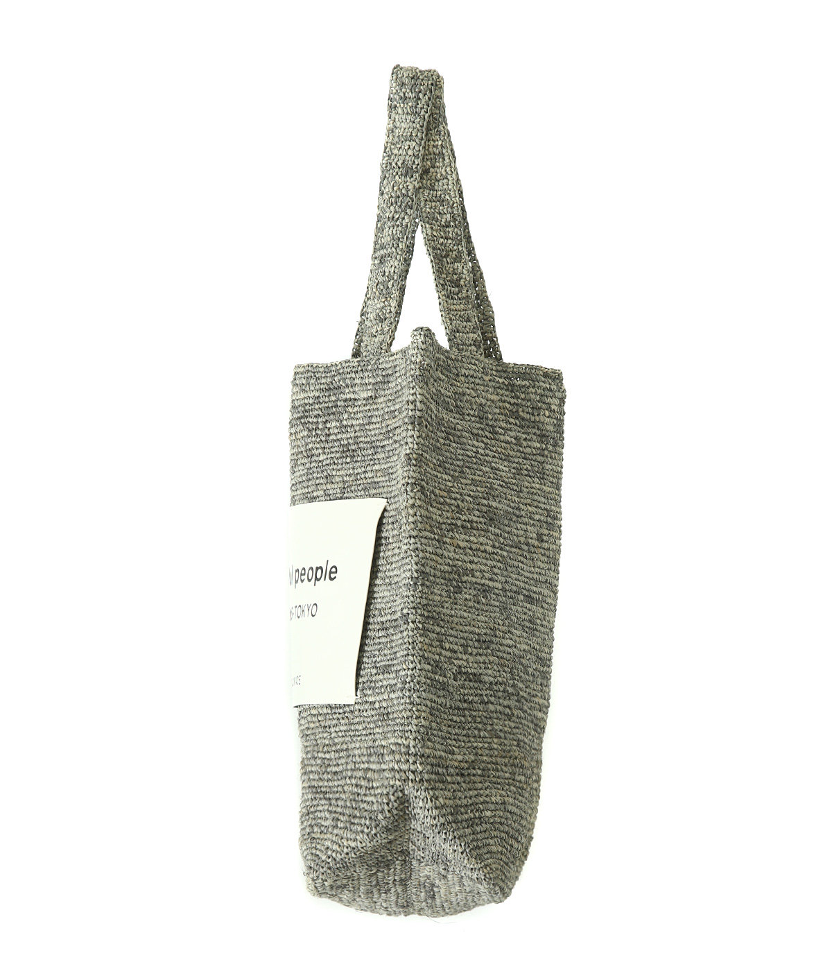 【レディース】raffia knitting name tote