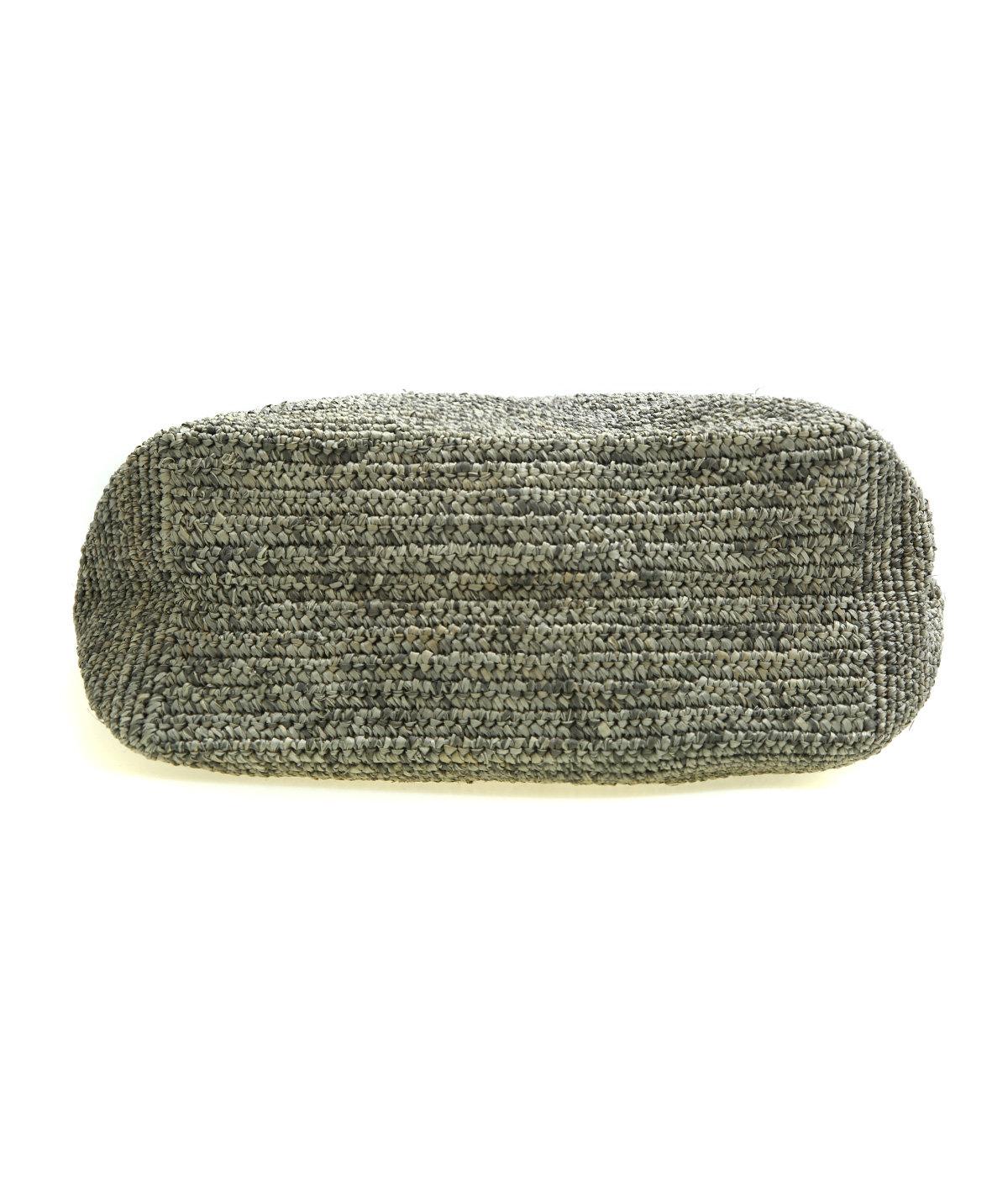【予約】raffia knitting name tote
