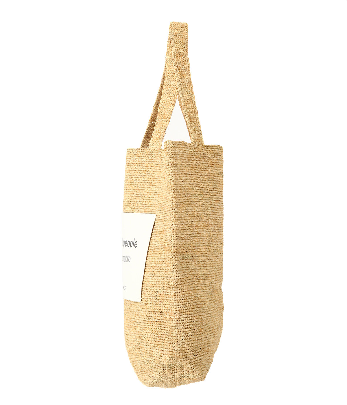 【予約】raffia knitting name tote