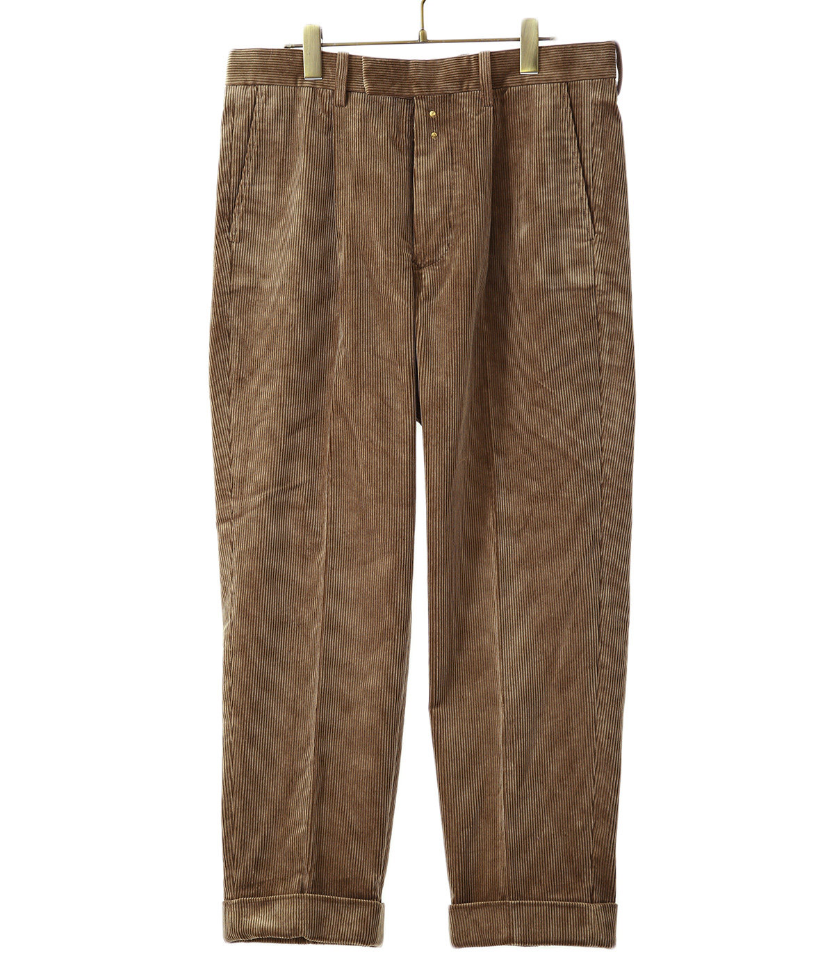 Cotton Corduroy Pleated Trousers