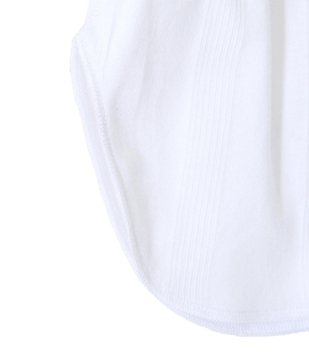 パネルリブ ラウンド裾タンクトップ