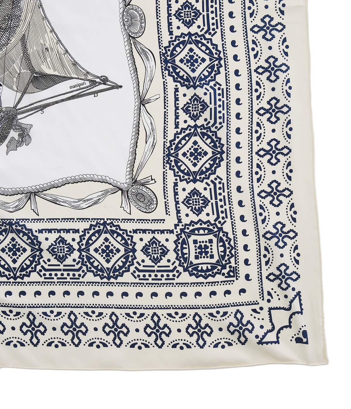 【レディース】<Silk scarf(88cm×88cm)>-気球-