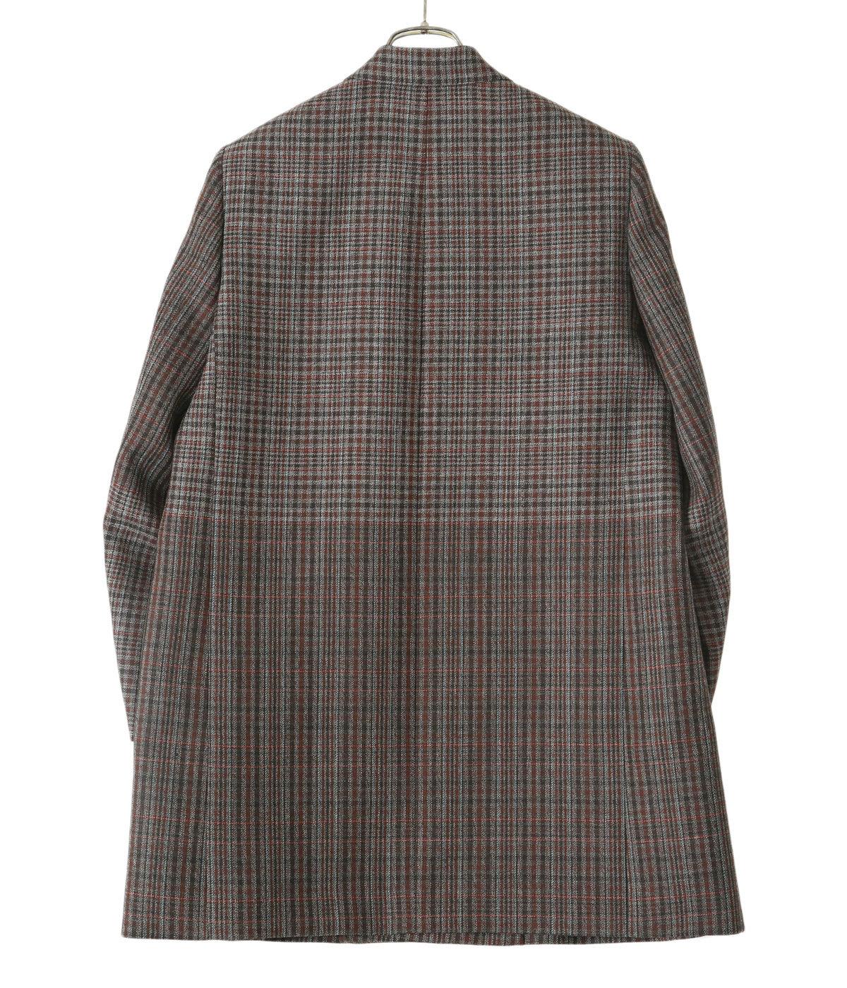 【予約】【レディース】gradation blockcheck tailored jacket