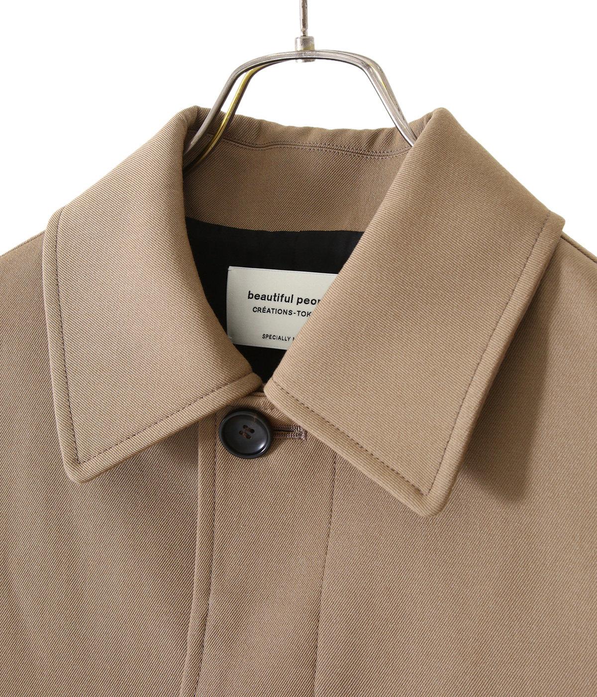 【レディース】c/w gabardine soutien collar coat