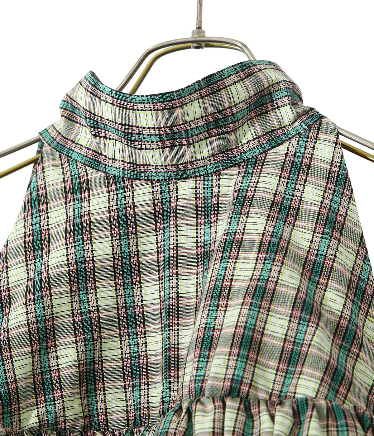 【レディース】double-end tartan ox dolman sleeve dress