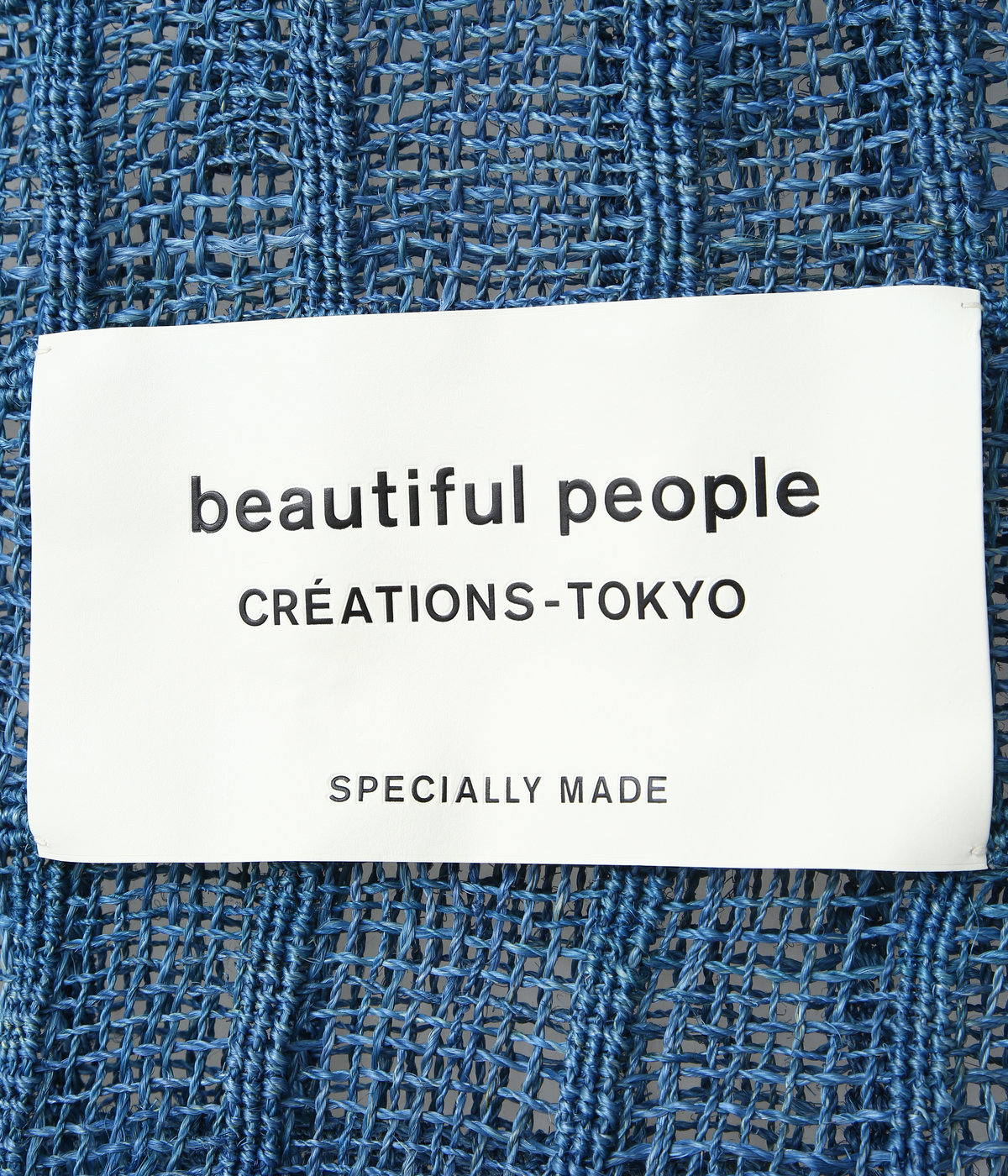 【レディース】abaca knitting name tote