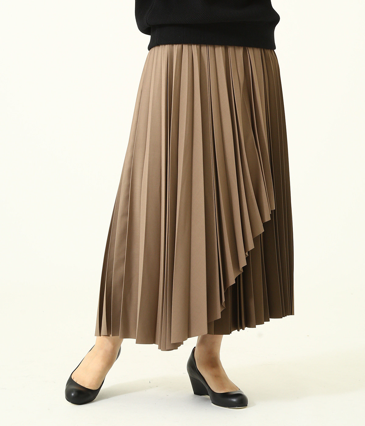 【レディース】OVERWRAP PLEAT SKIRT