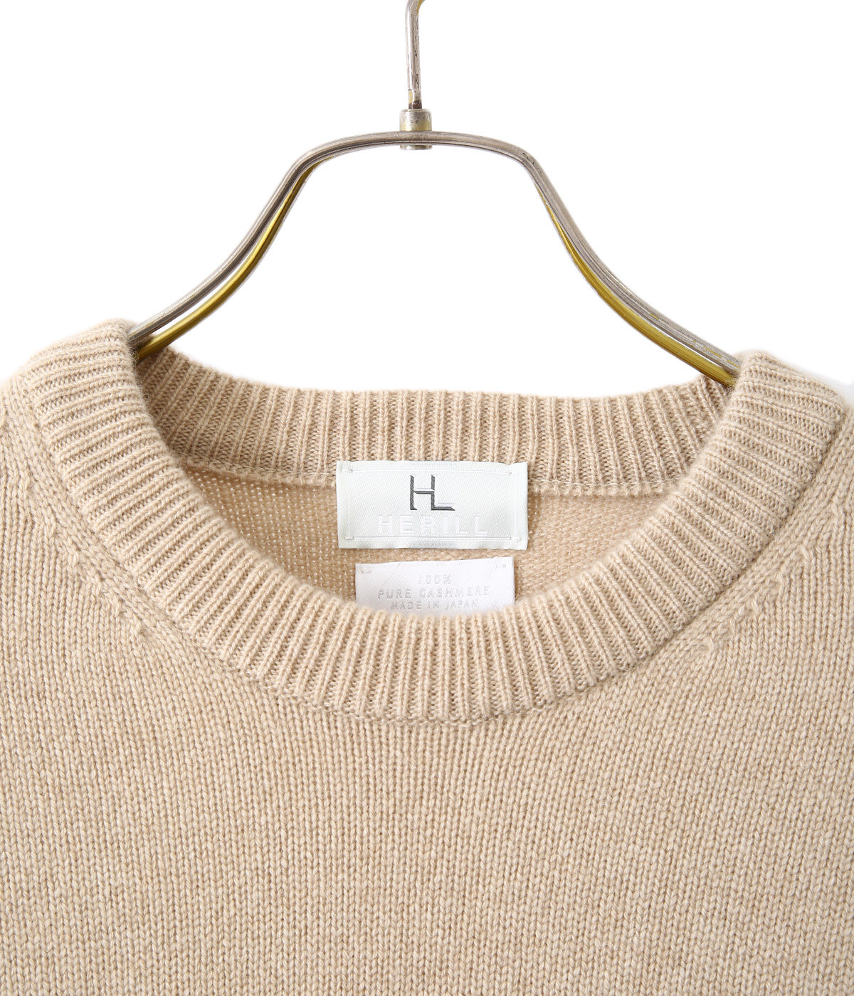 Golden cash cashmere crew knit