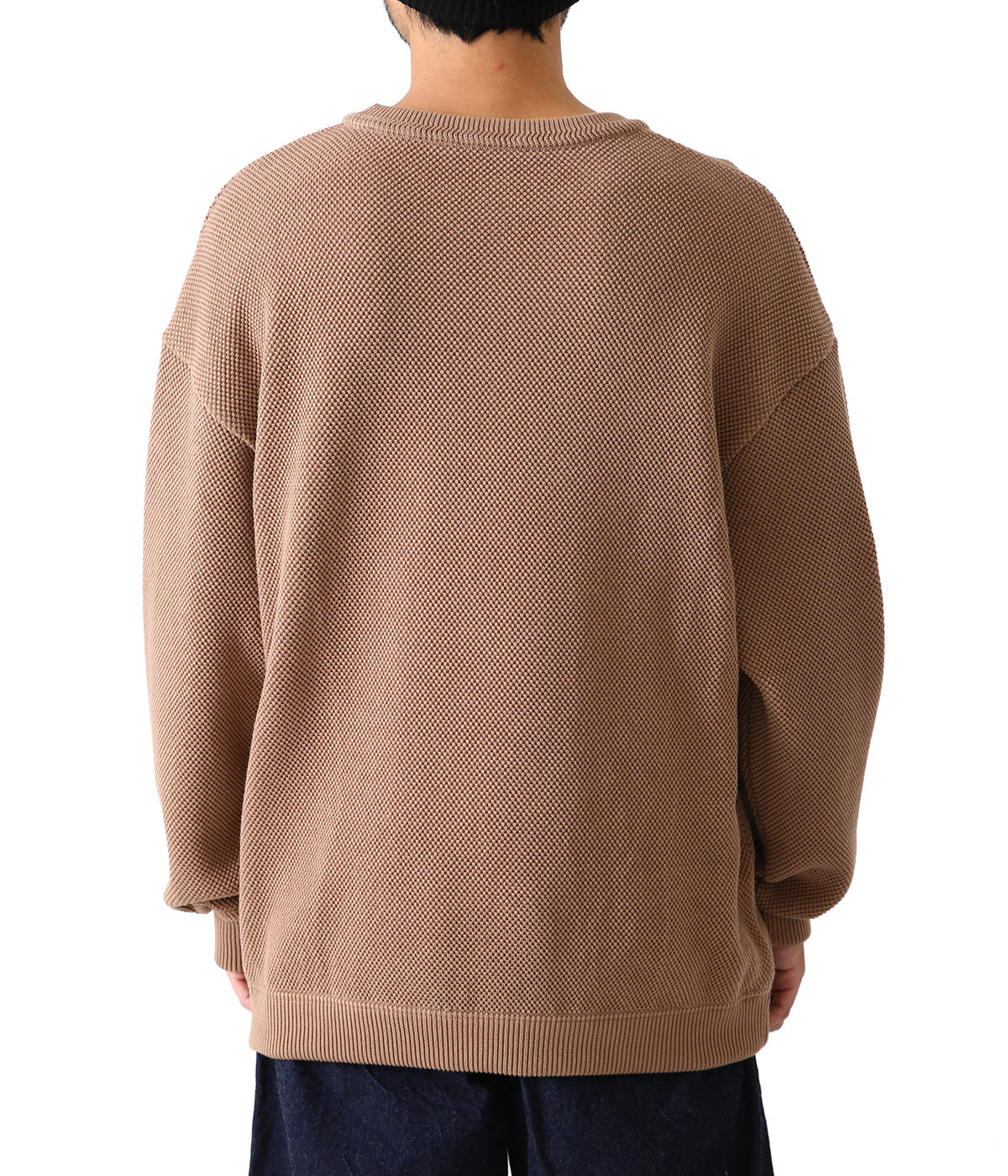 Moss stitch L/S sweat