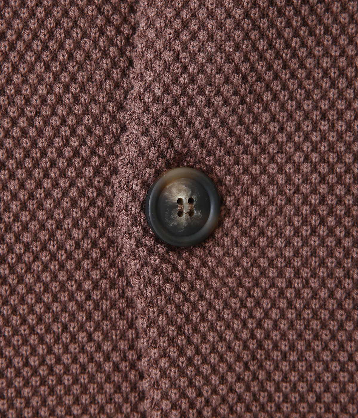 Moss stitch crew cardigan