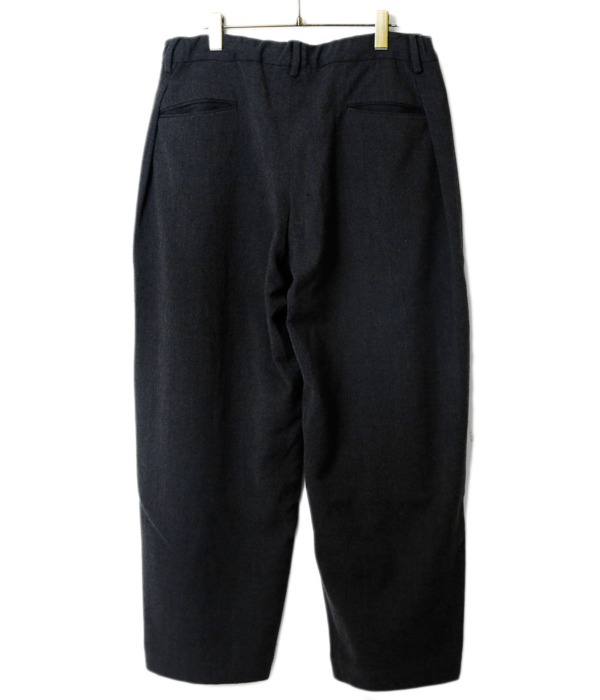 Washble Wool RATINE W-TUCK PANTS