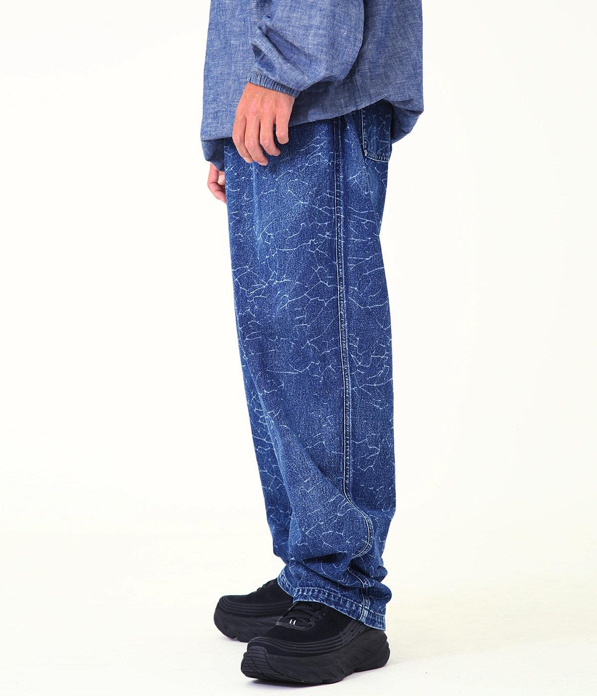DENIM CRACK PANTS