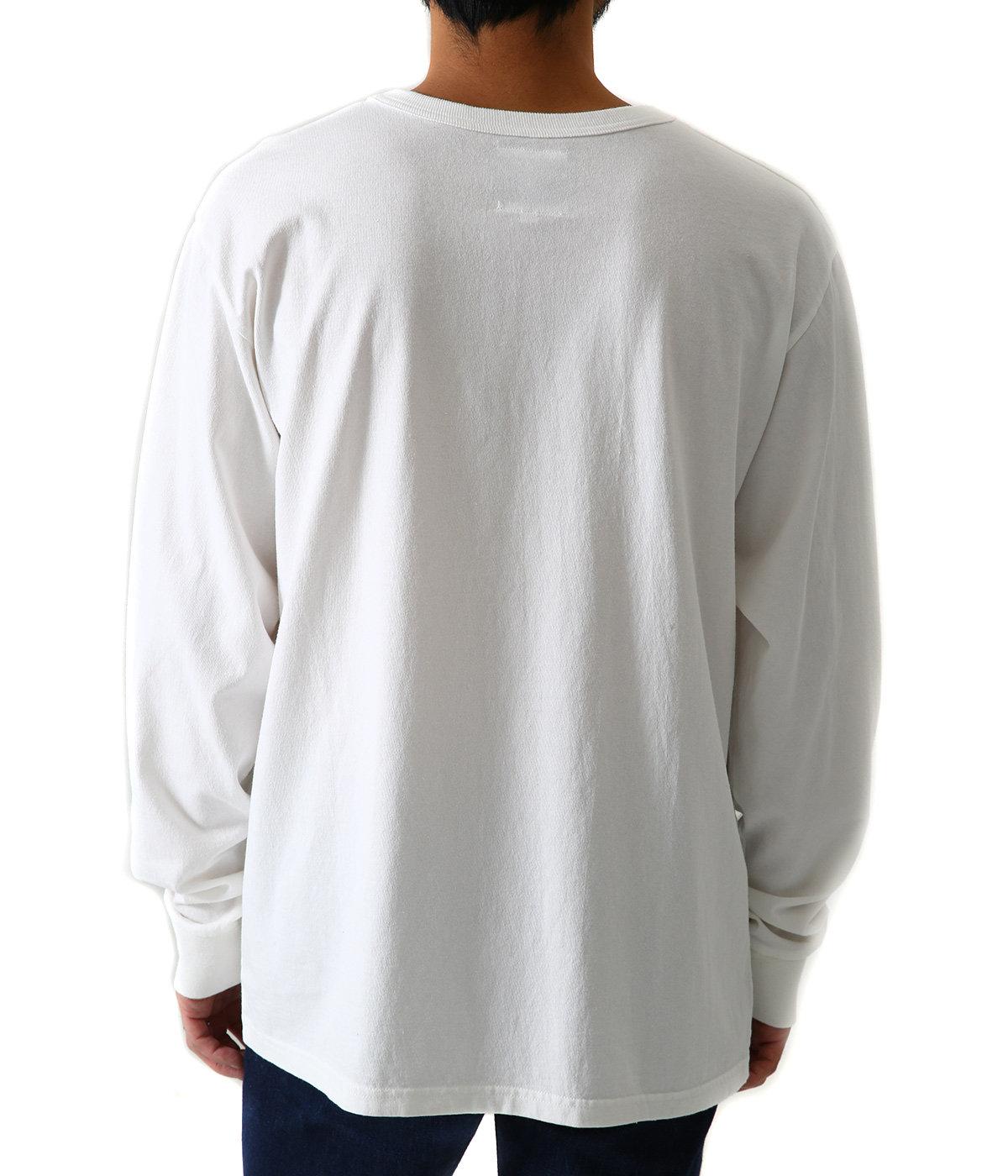 HANDWRITING LOGO LS embroidery shirt