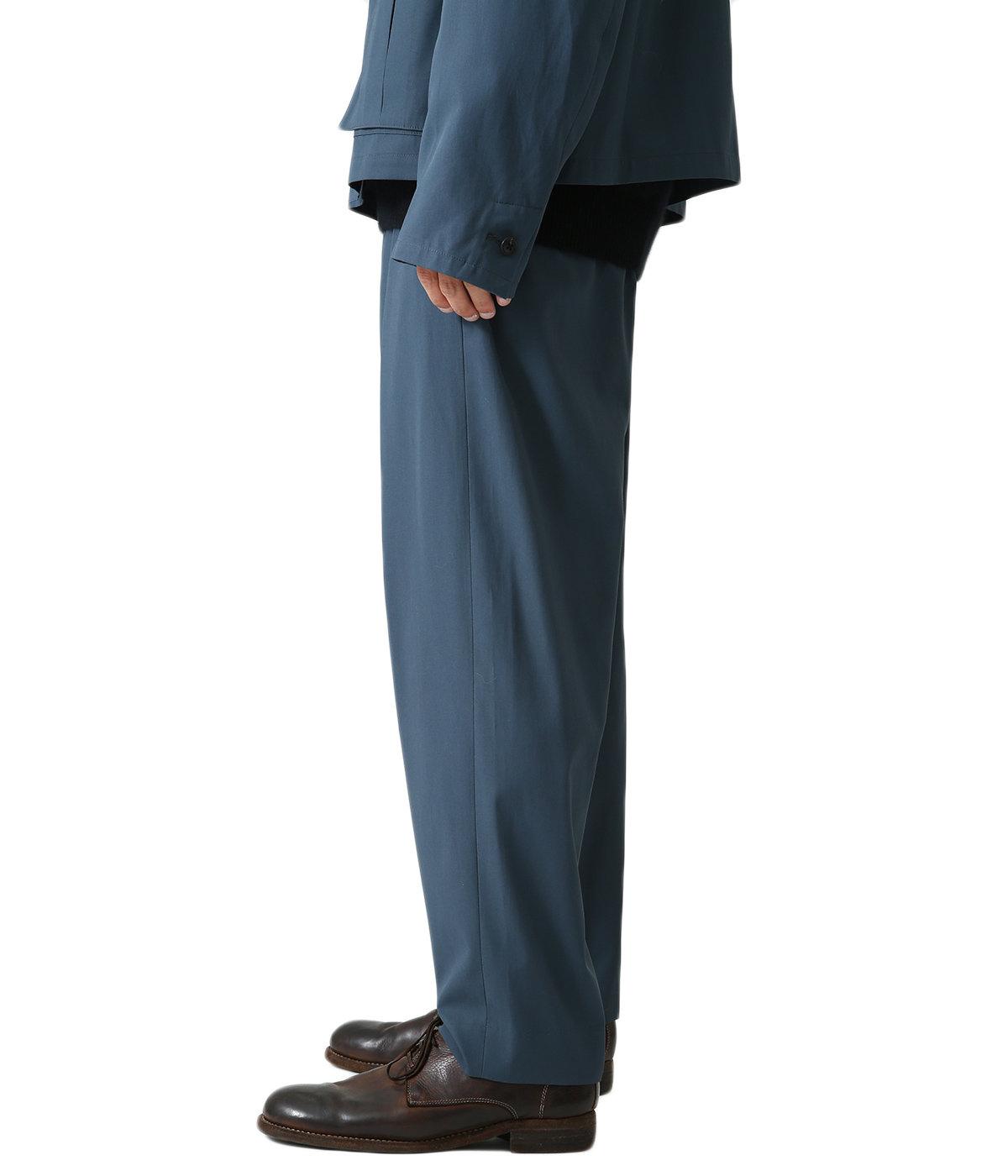 COTTON GABARDINE / INVERTED PLEATS PANTS