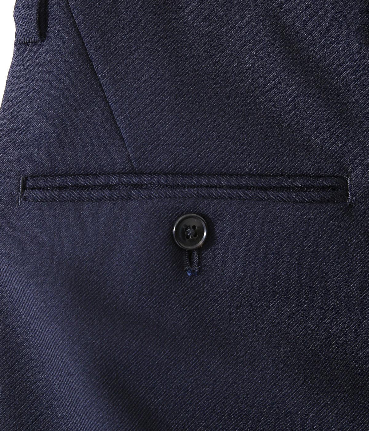WOOL POLYESTER SERGE / 1 TUCK PANTS