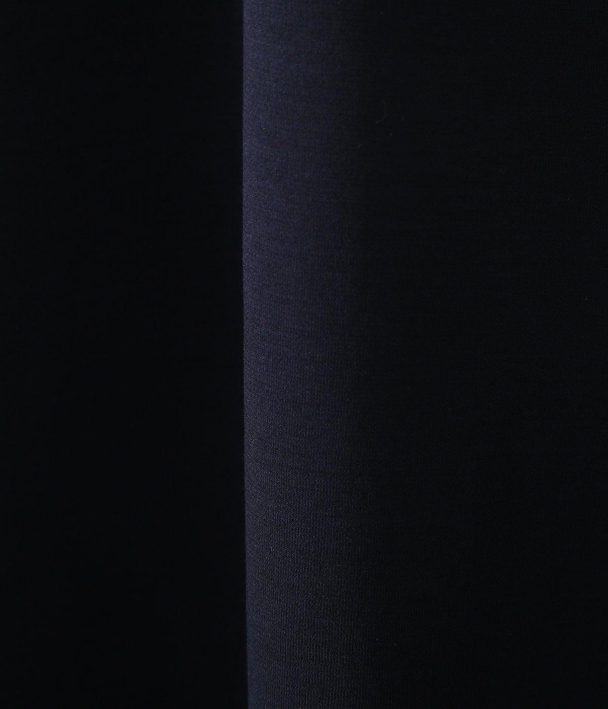 COTTON PONTE / V NECK L/S TEE