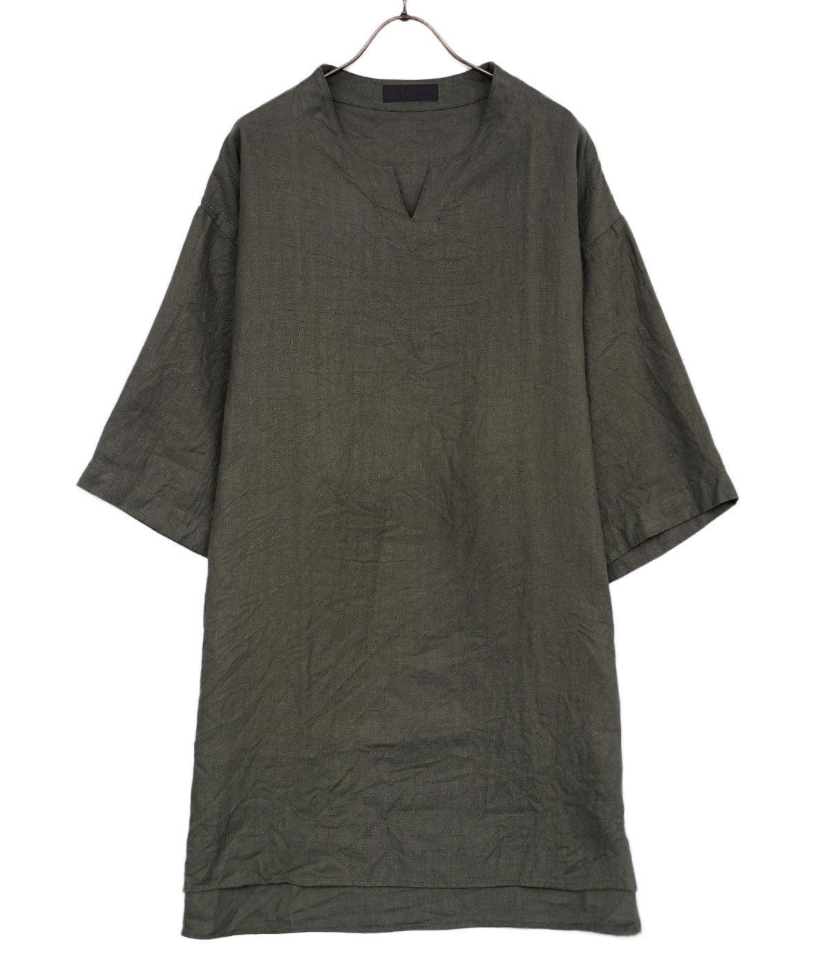 Linen Herringbone P/O Shirt
