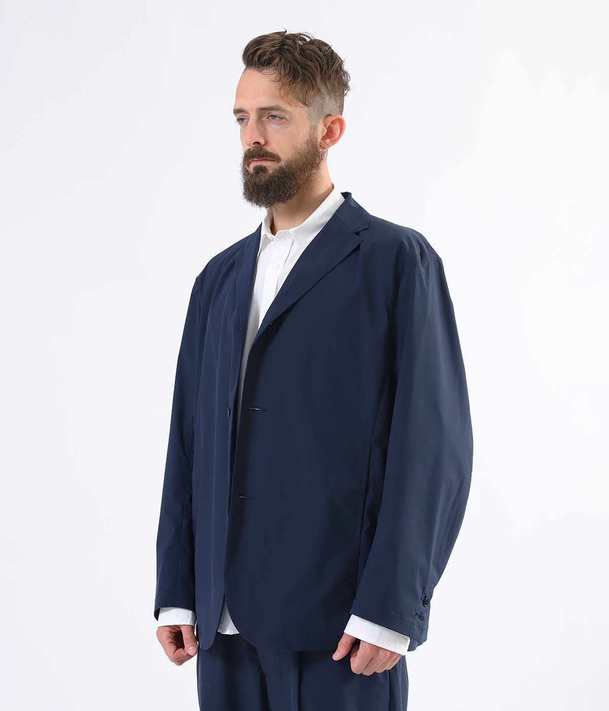STRETCH WEATHER CLOTH TAILORED JACKET
