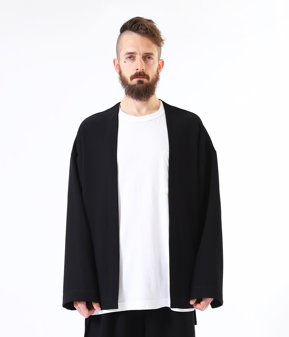 STRETCH DOUBLE CLOTH CARDIGAN