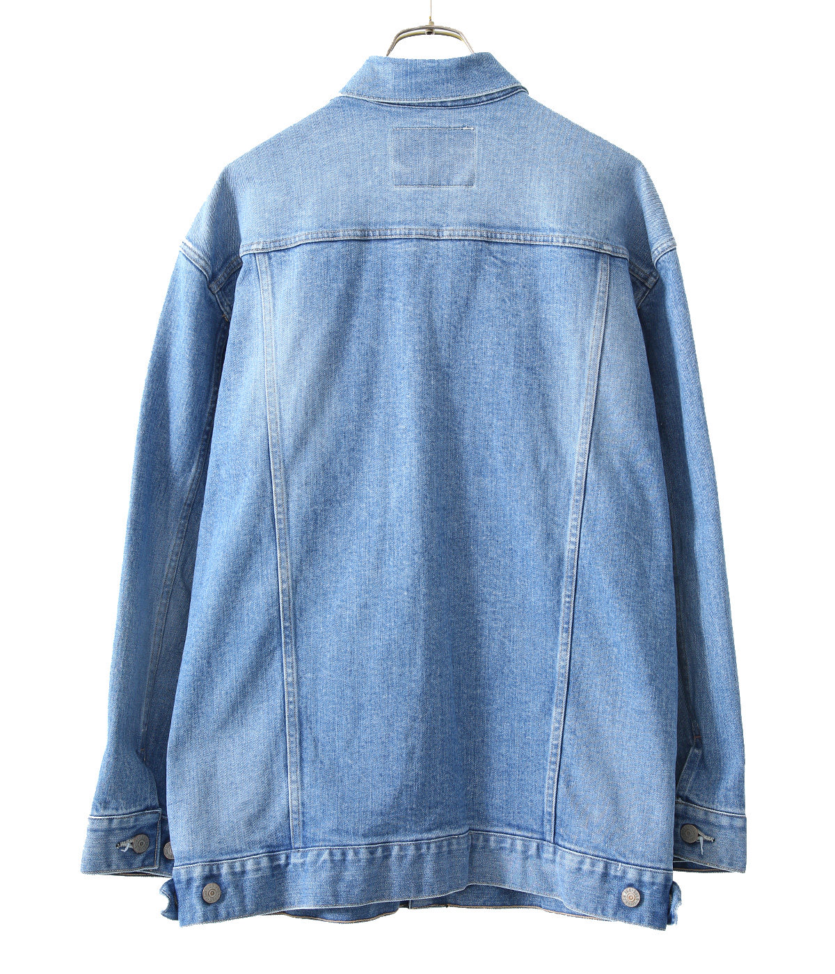 【予約】12oz. STRETCH DENIM LONG TRUCKER JACKET AGED MODEL