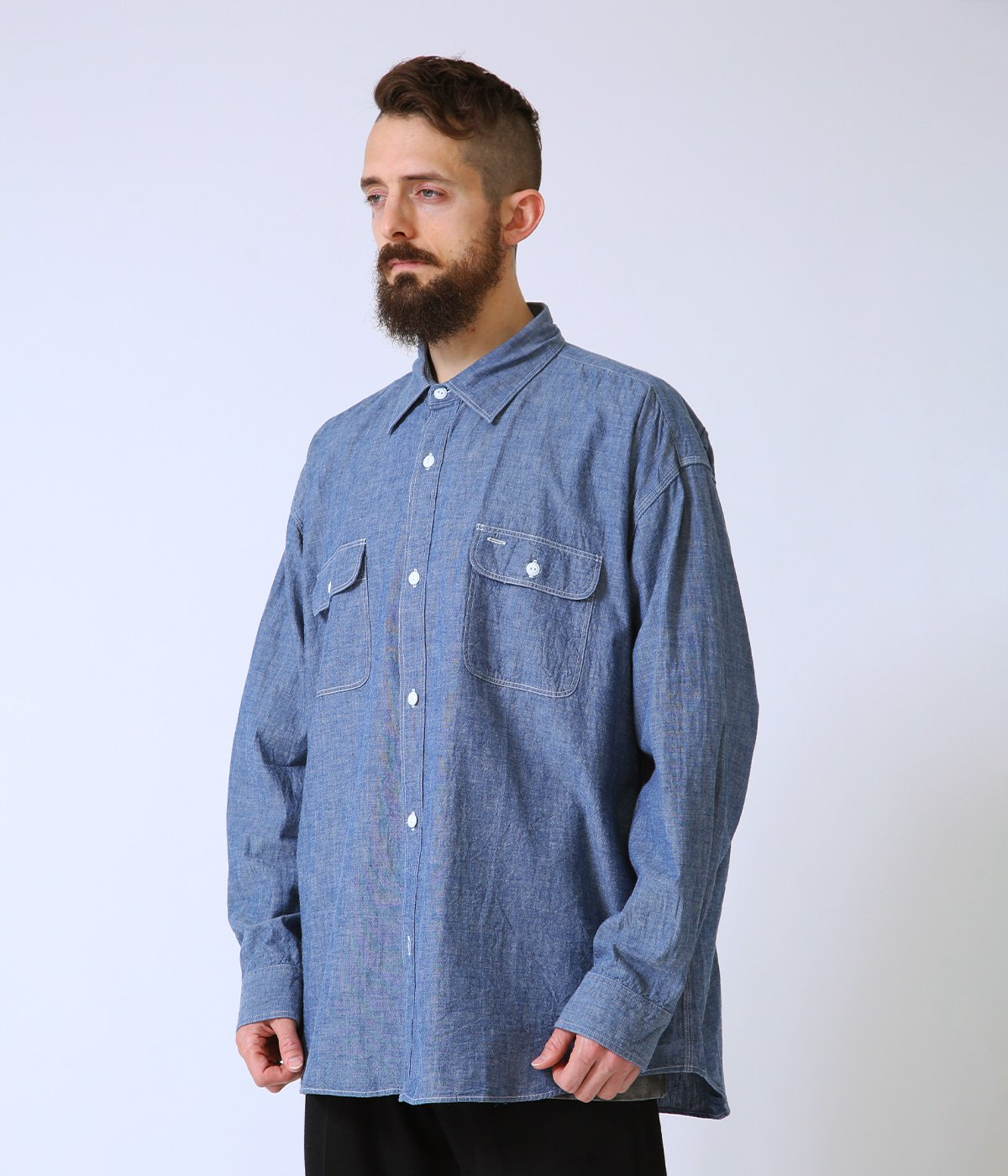 CHAMBRAY BIG WORK SHIRT