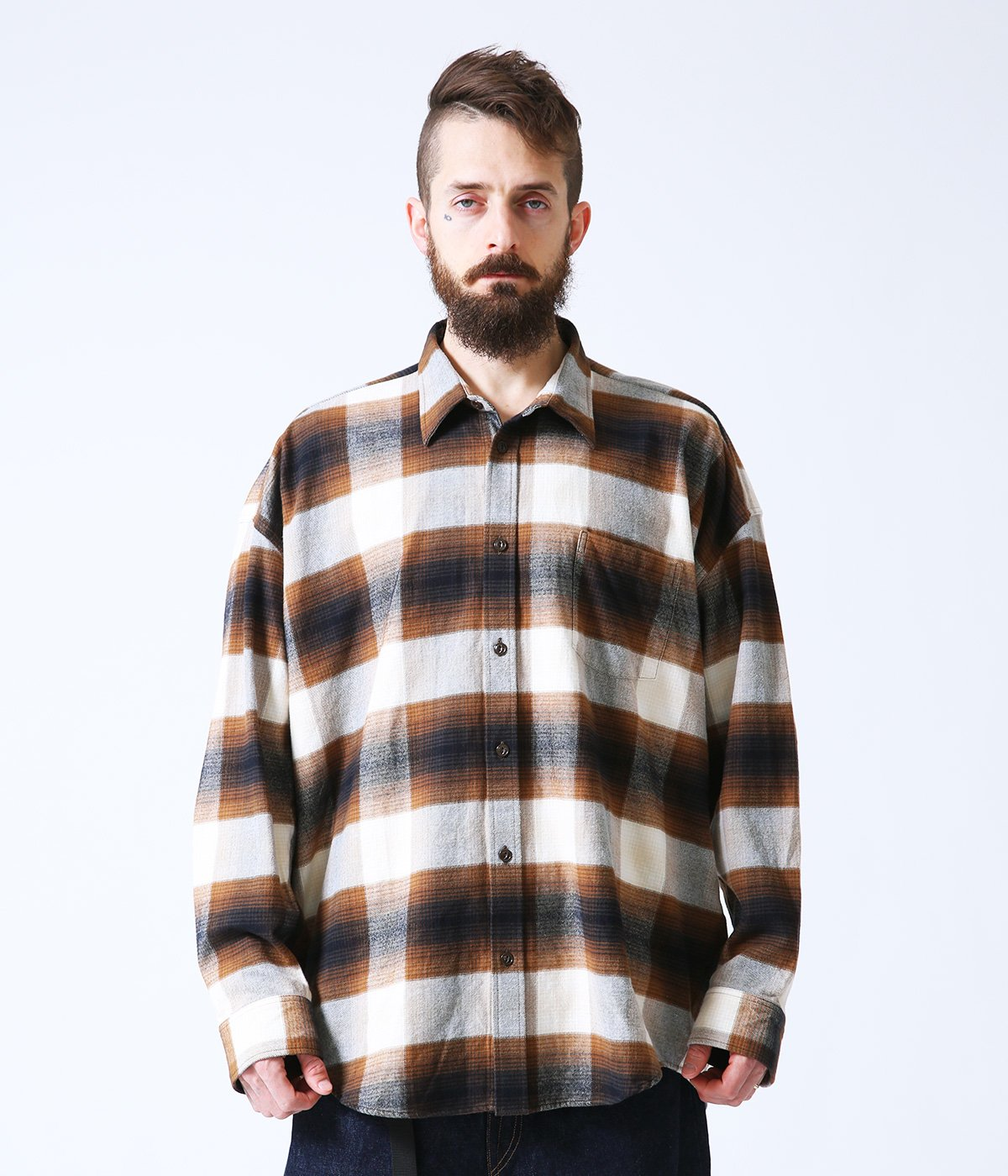 HEAVY NEL CHECK BALLOON SHIRT
