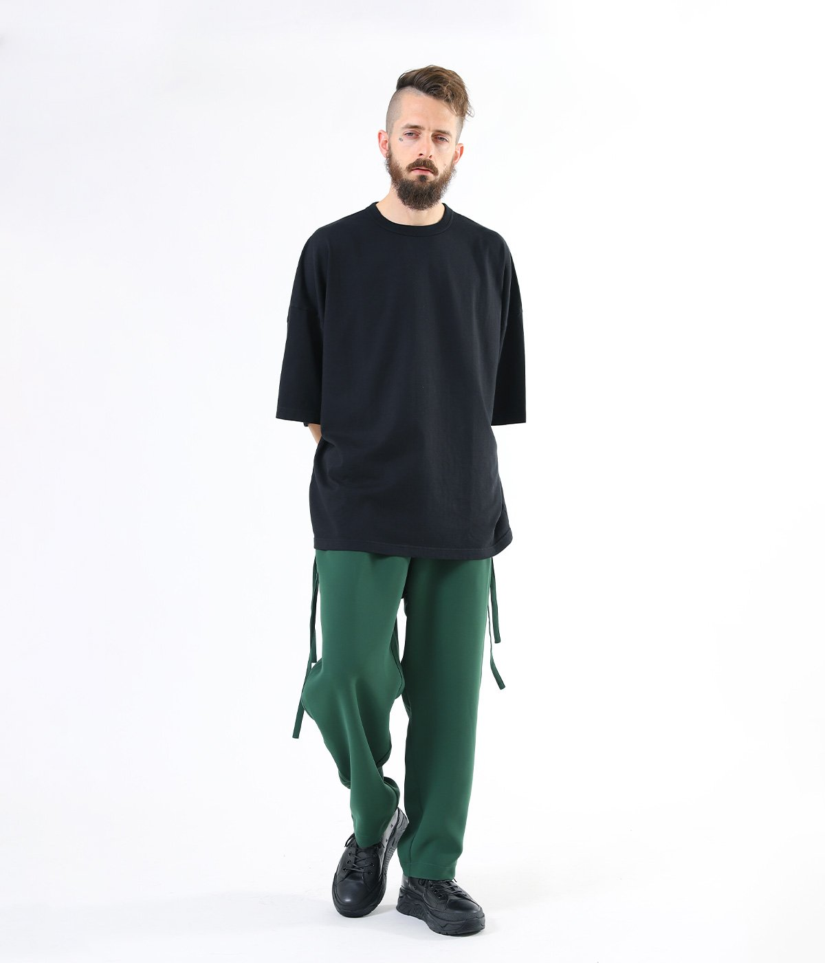 STRETCH DOUBLE CLOTH STRINGS PANTS