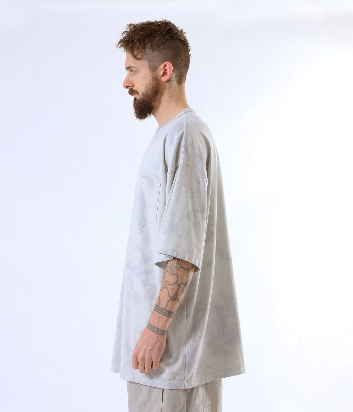 SUVIN COTTON OVER SIZE TEE TIE-DYED