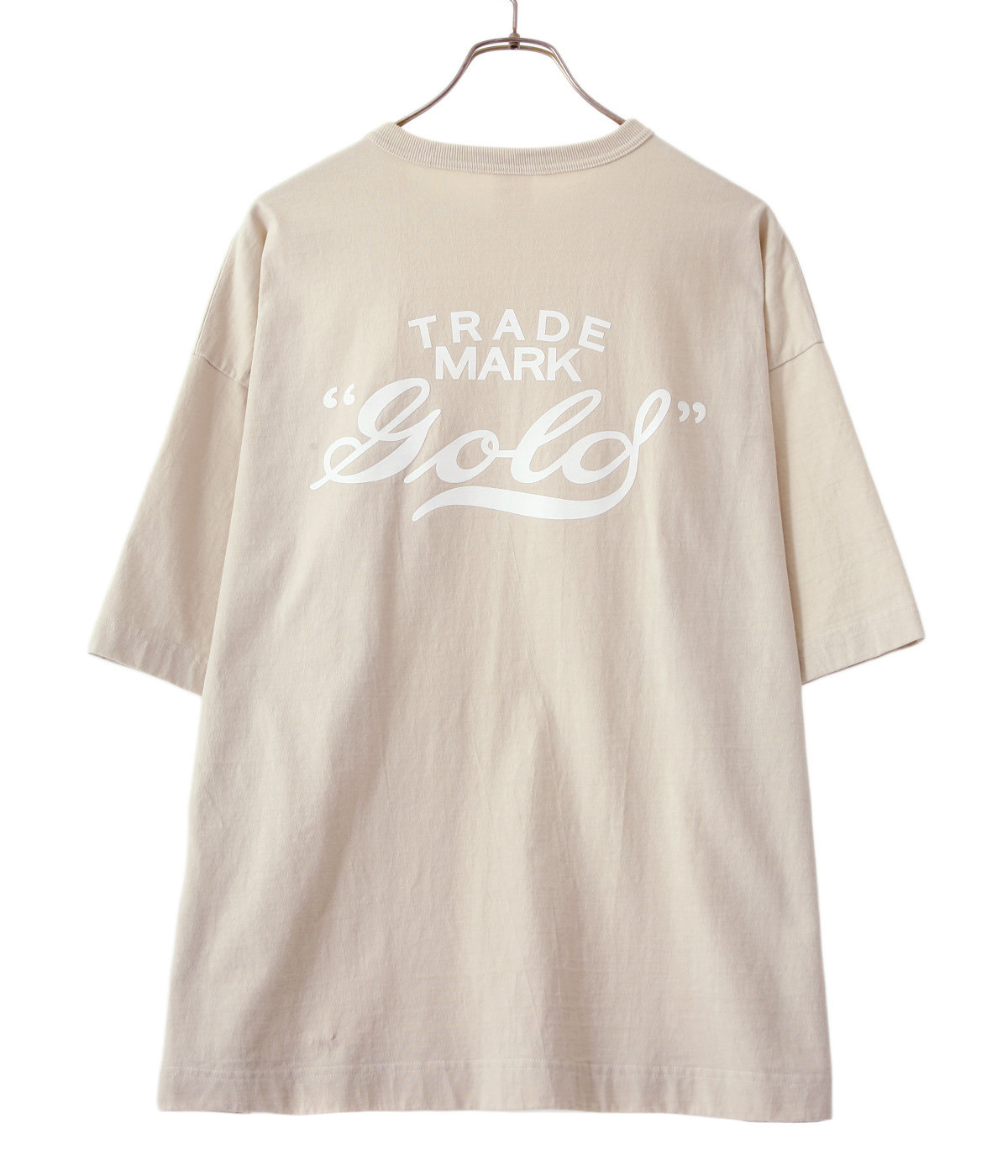 "HEAVY COTTON BOX TEE ""gold"" PRINTED"