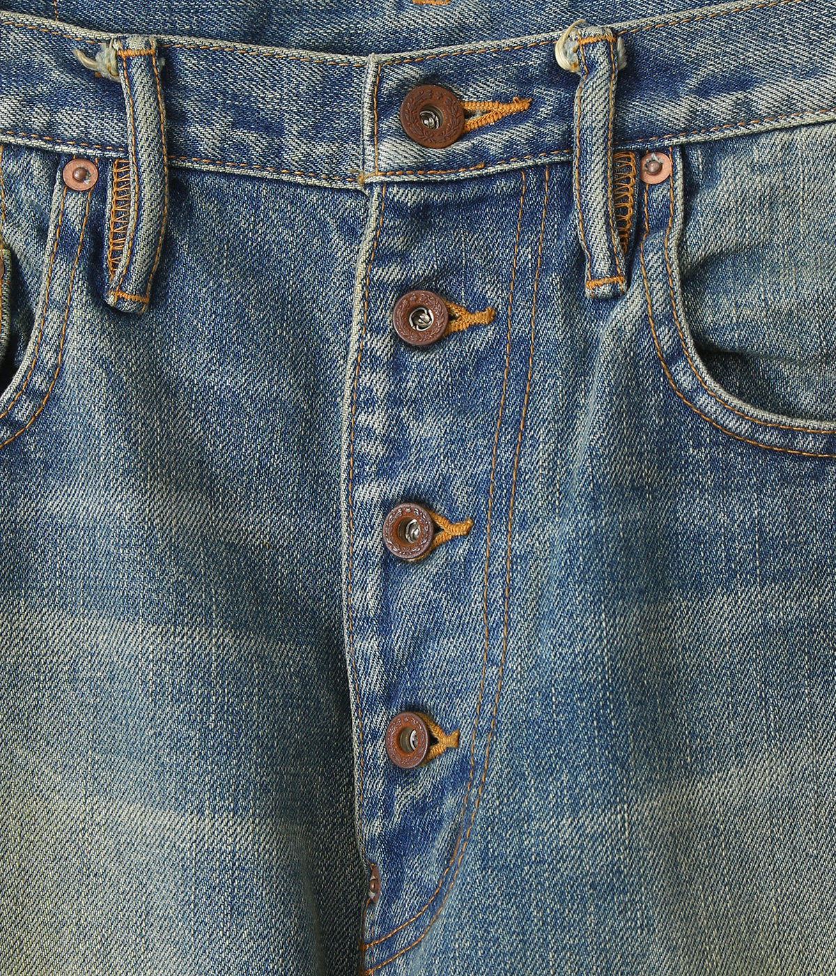 【予約】OILED FADE DENIM PANTS