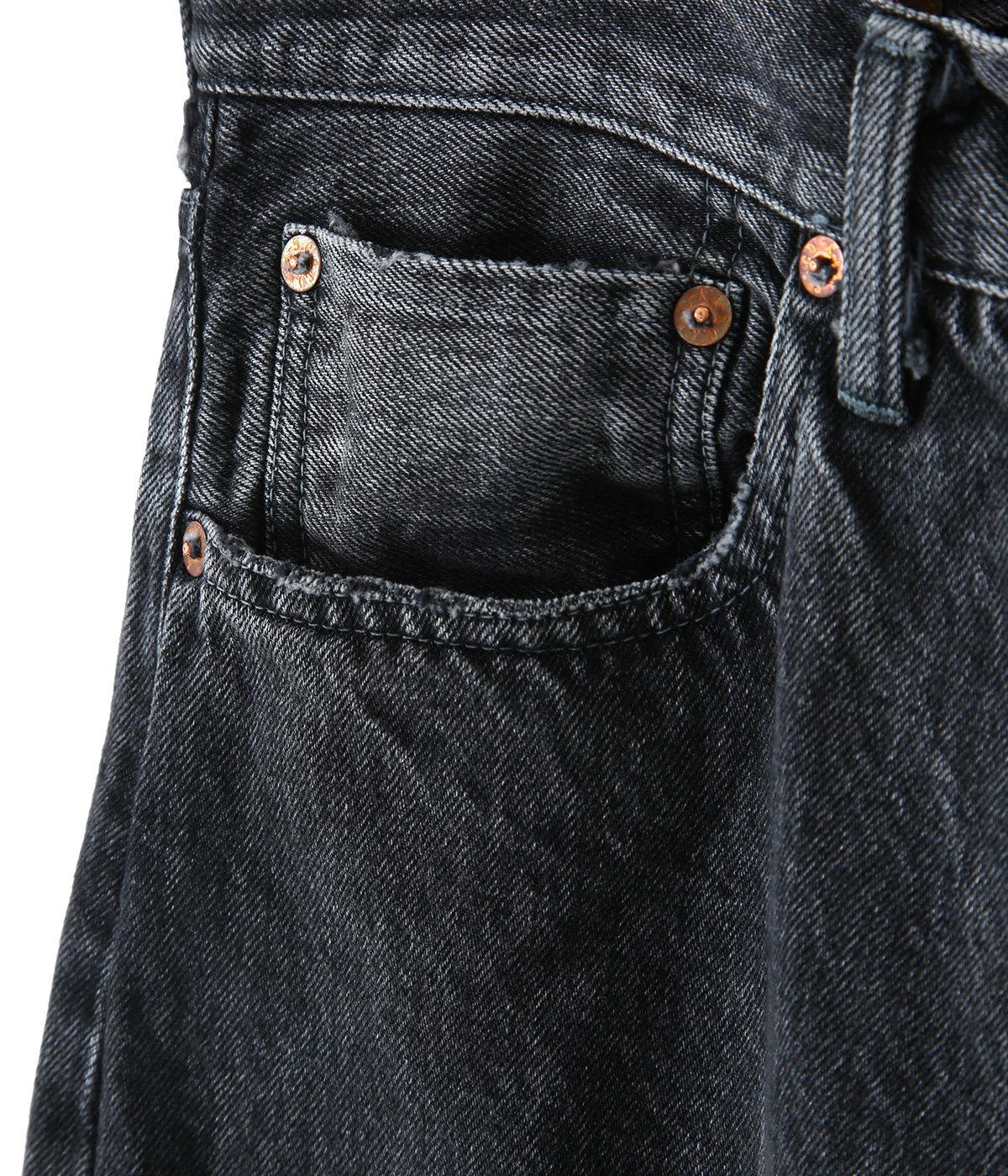 14oz. SELVEDGE DENIM 5POCKET PANTS AGING MODEL HARD WASHED