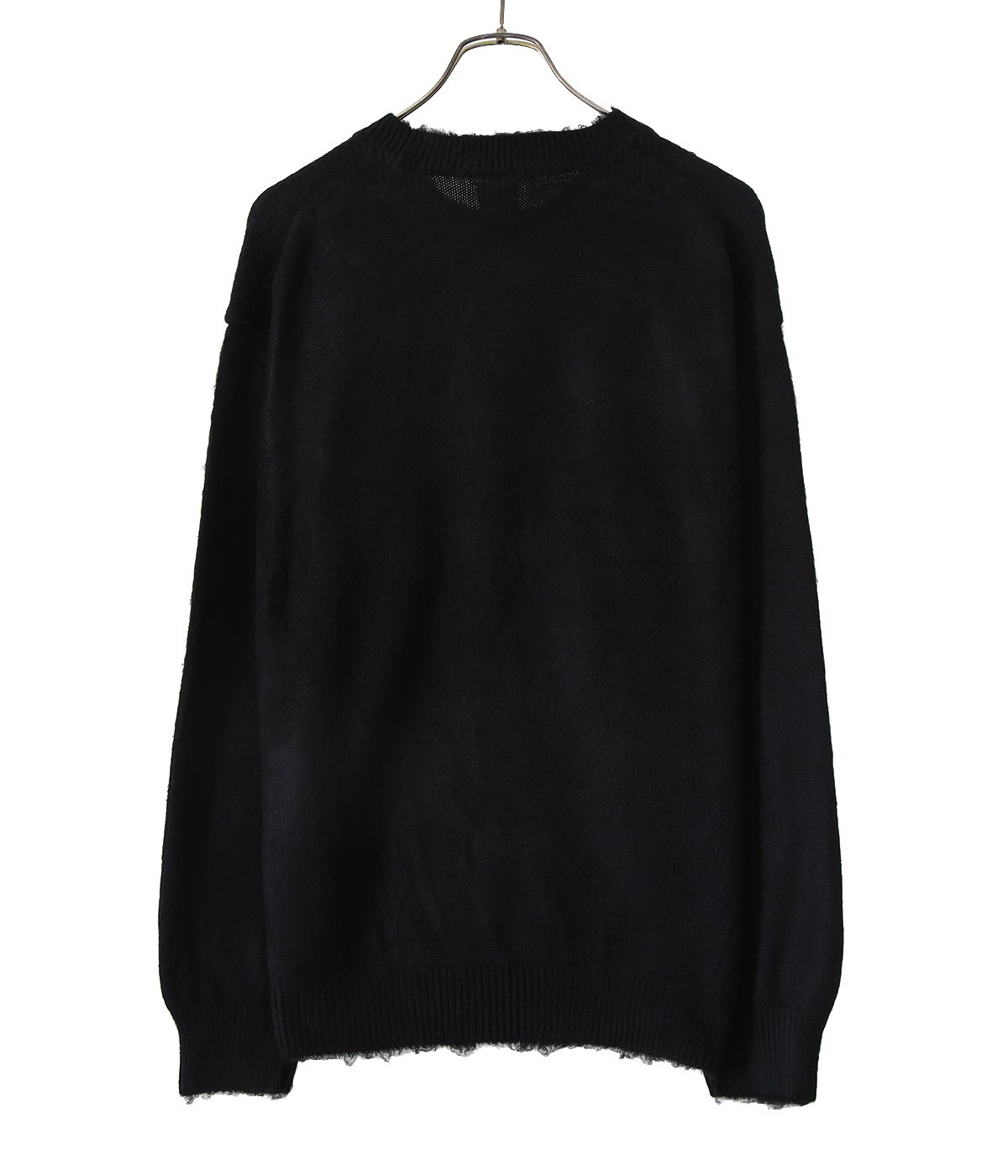 SILK BRUSHED KNIT CREW NECK PULL OVER