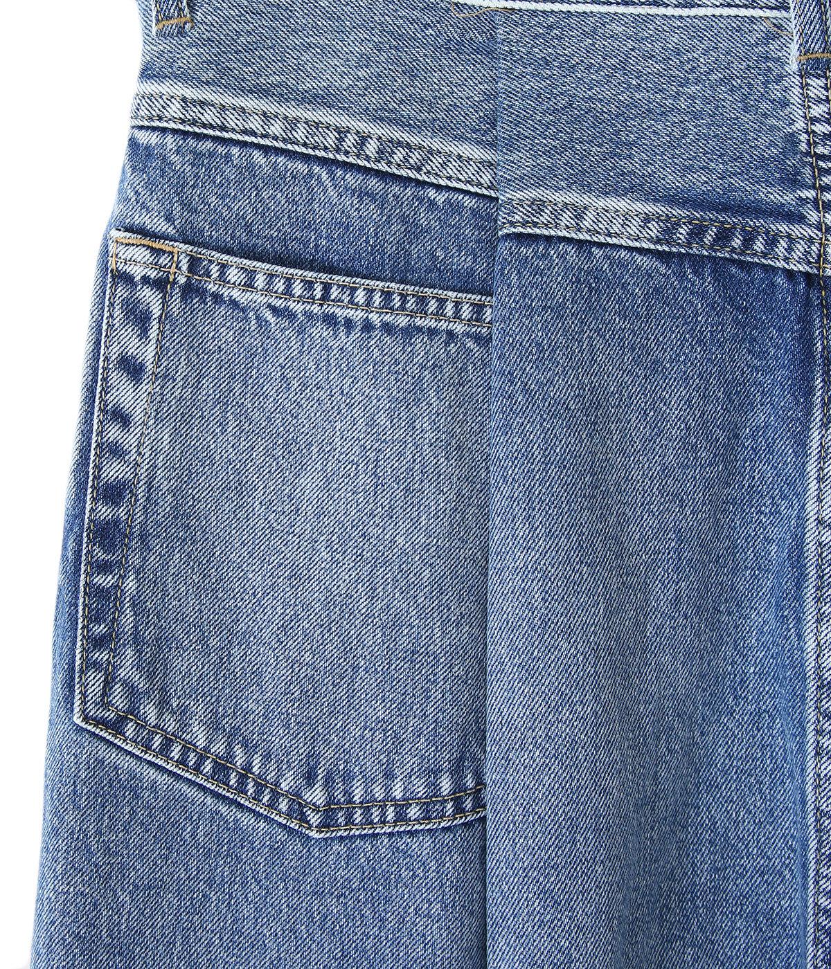 COTTON DENIM / TUCK PANTS - indigo -