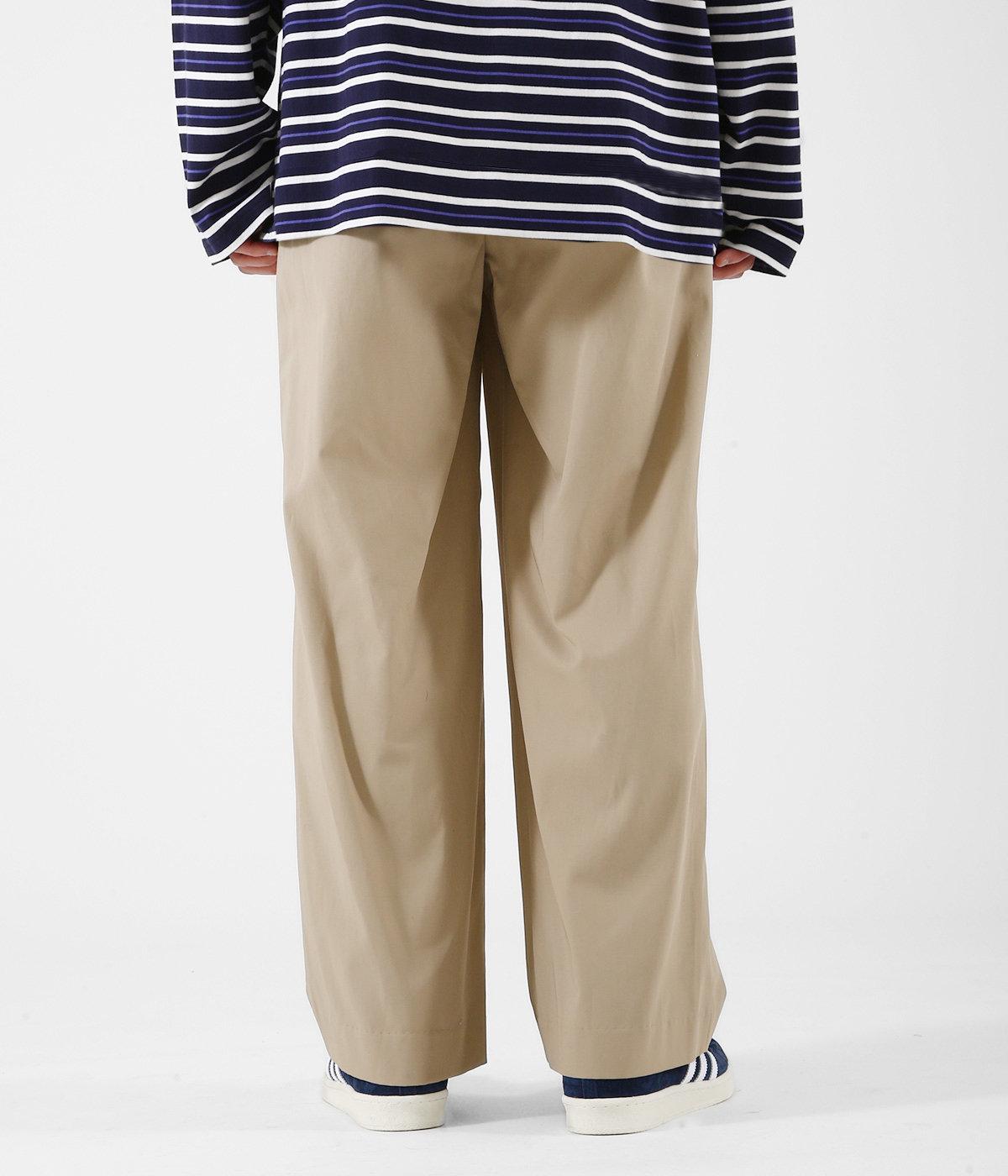 COTTON GABARDINE / 1 TUCK PANTS