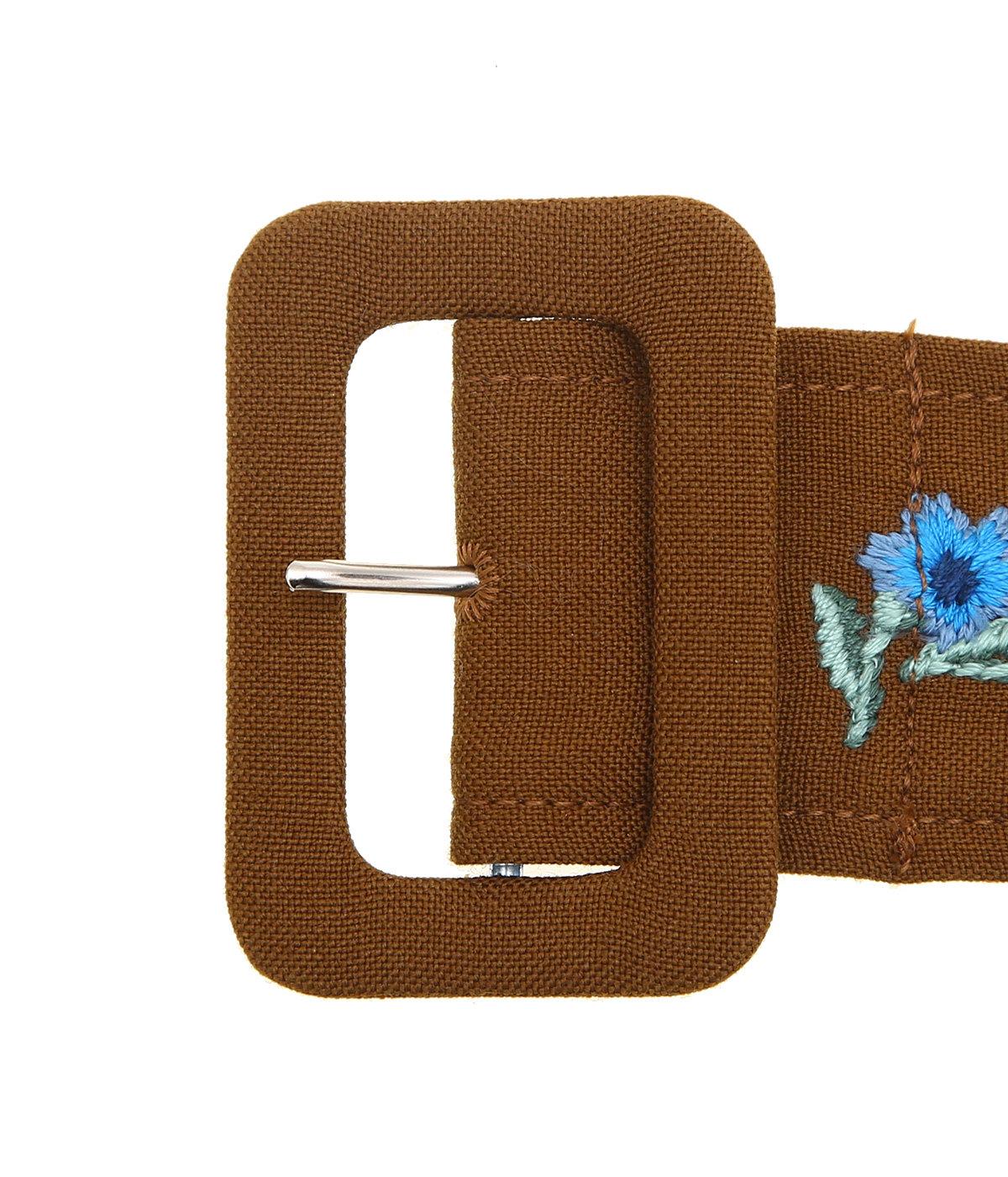Flower Embroidery Wool Velt