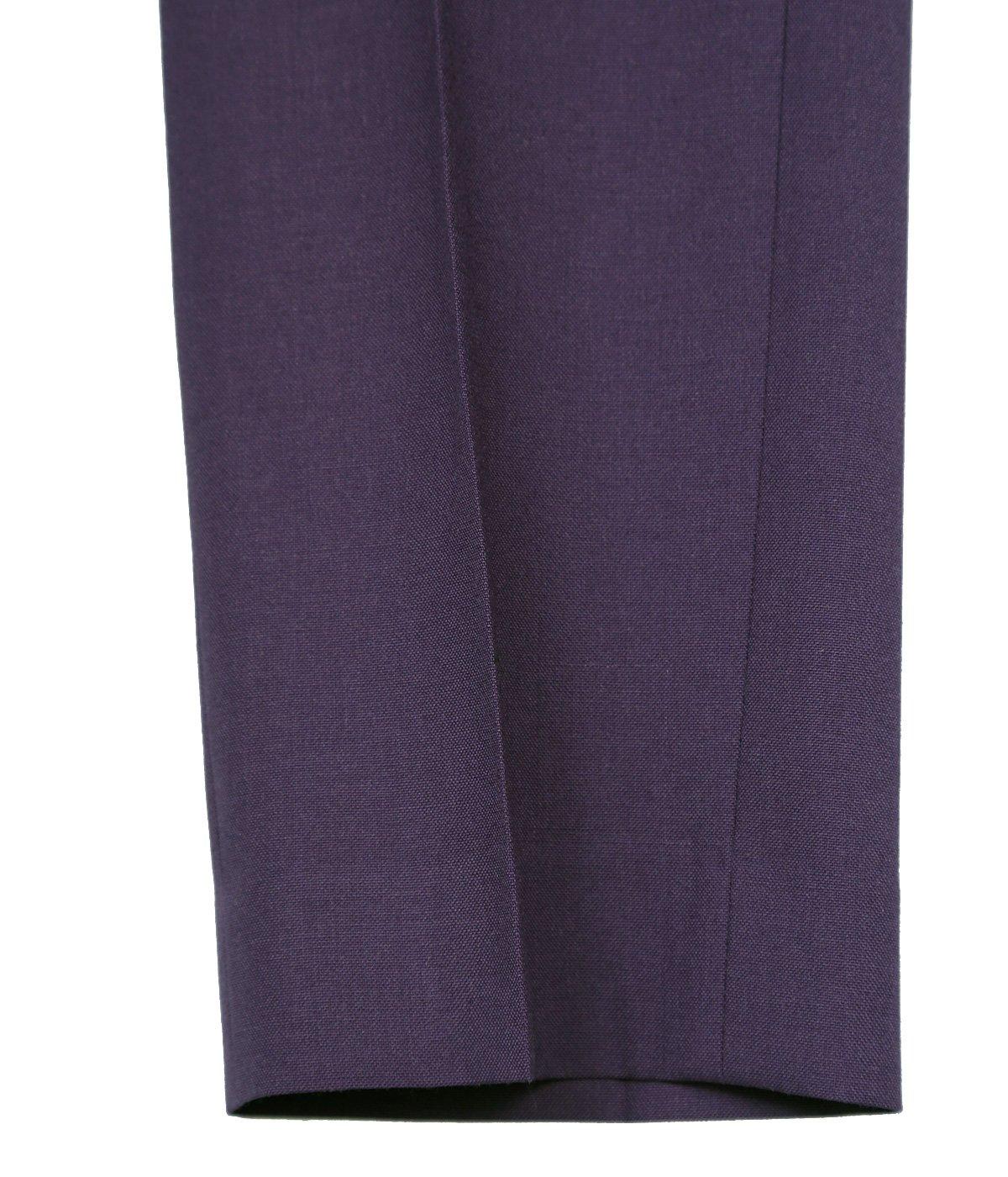 Bush Detail Wool Slacks with Velt